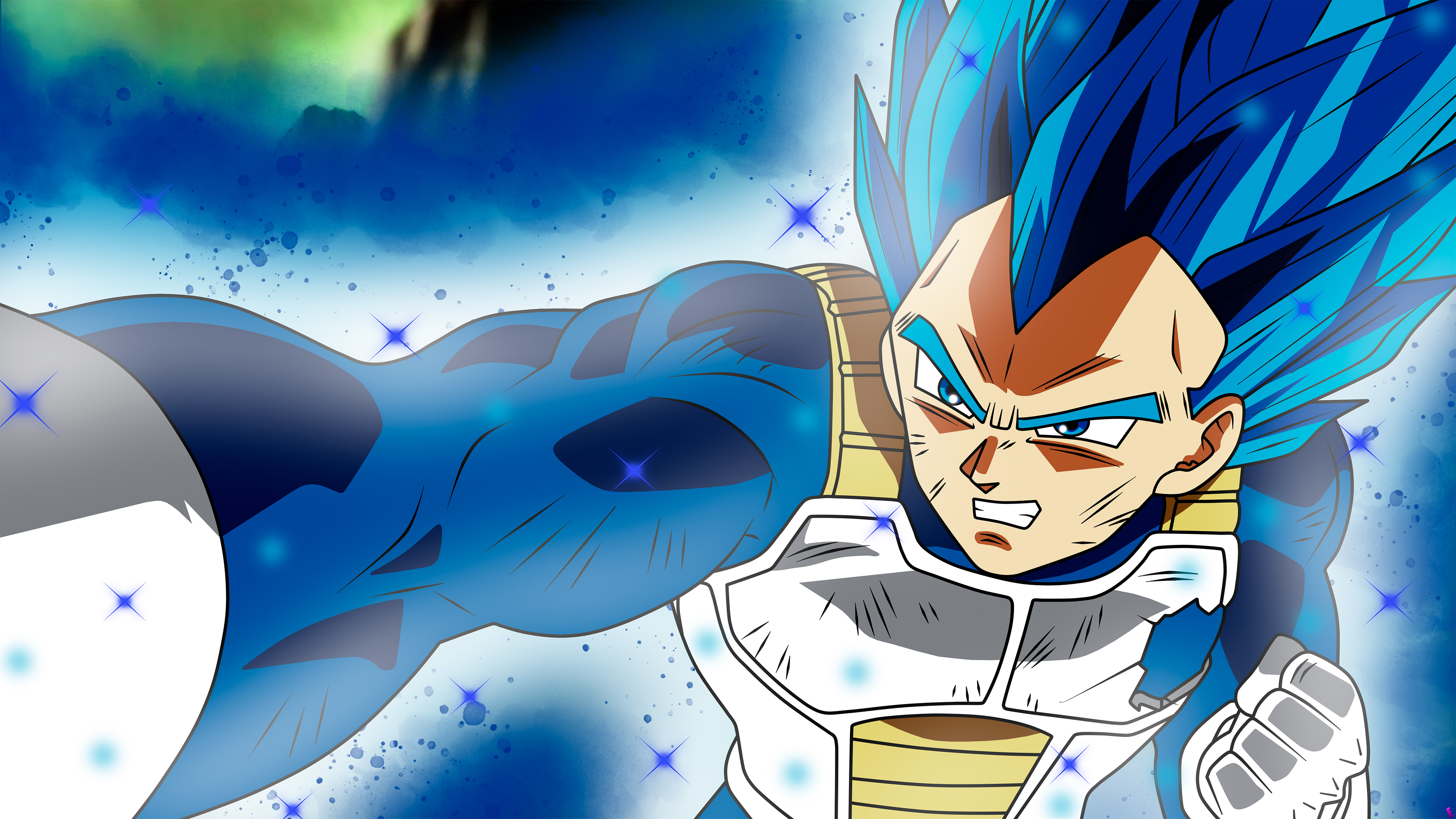 anime dragon ball super vegeta ssj blue full power, hd anime, 4k