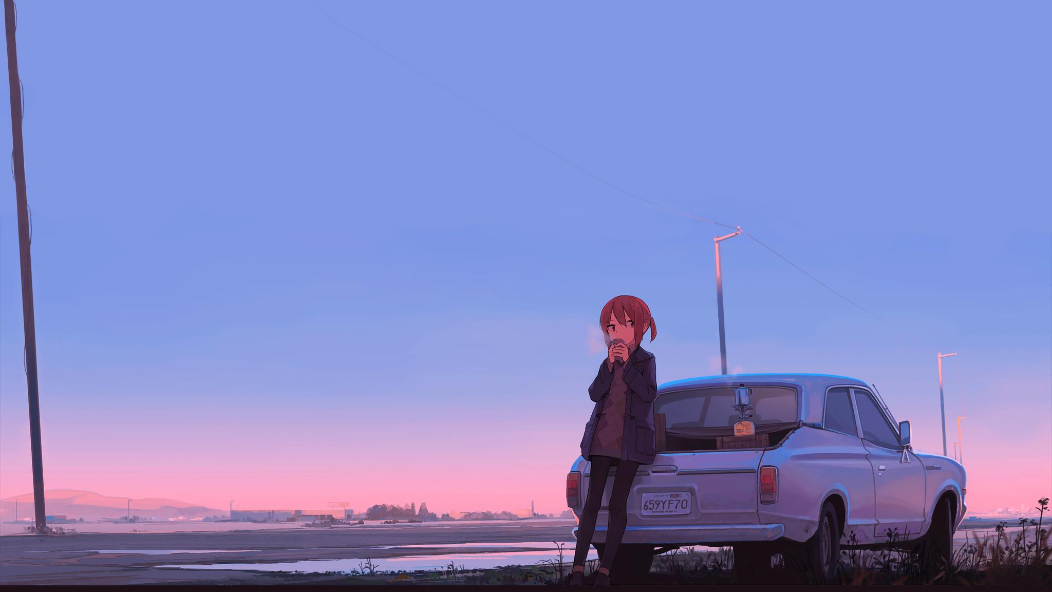 Most Inspiring Wallpaper Anime Car - anime-girl-car-drinking-coffee-co  HD_969485      .jpg