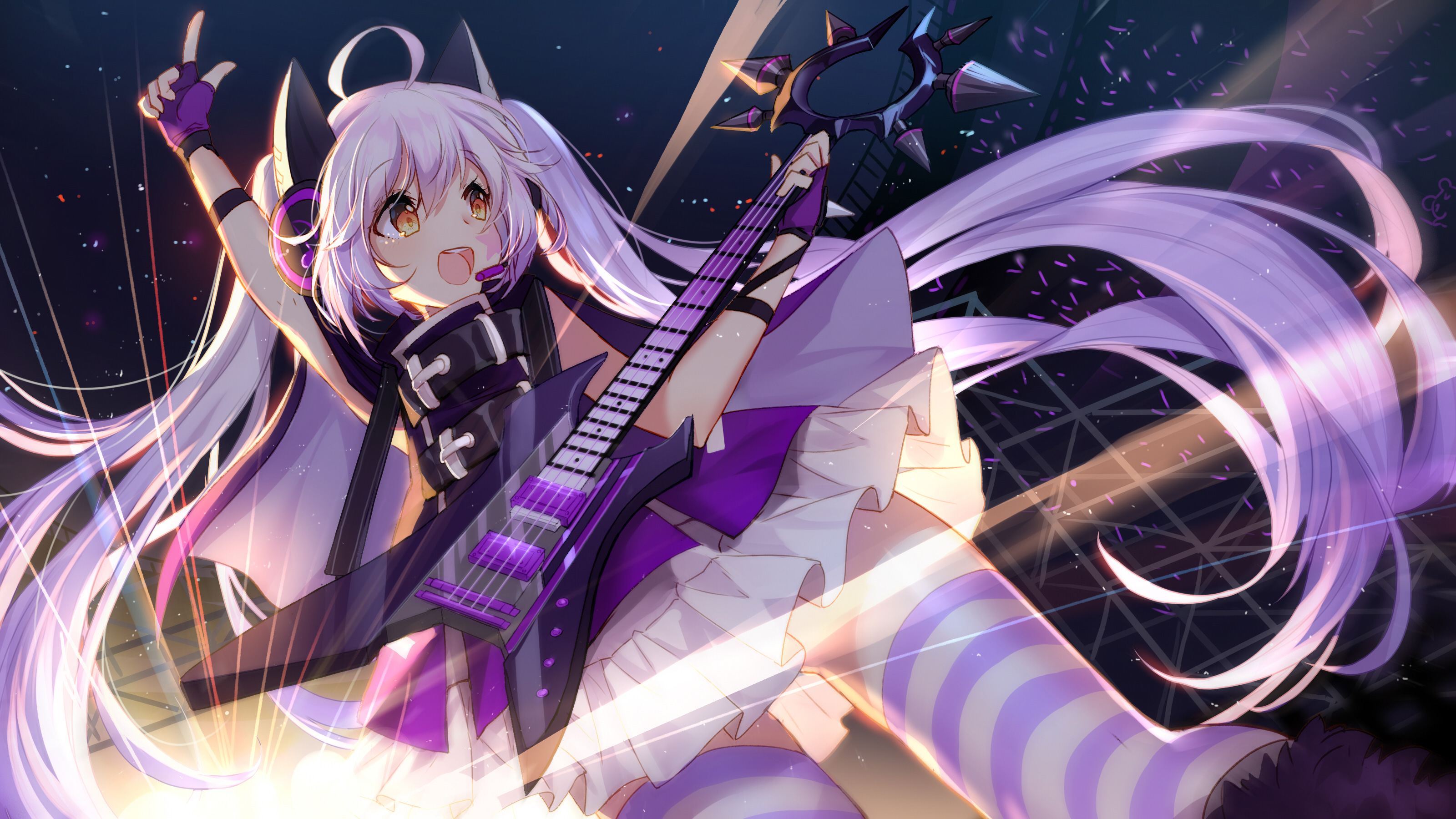 Anime Girl Concert 4k, HD Anime, 4k Wallpapers, Images, Backgrounds, Photos and Pictures