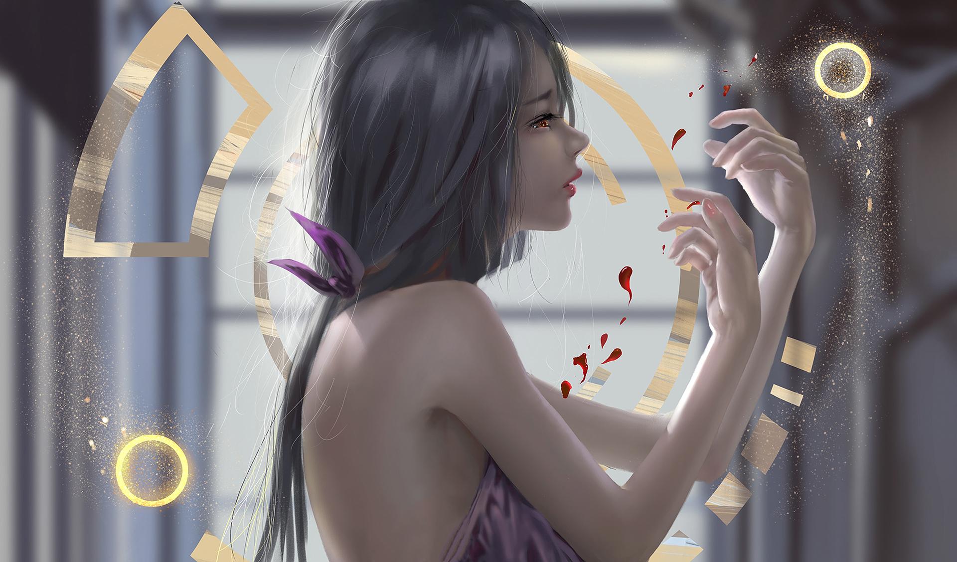 2048x2048 Anthem Ipad Air Hd 4k Wallpapers Images: 2048x2048 Anime Girl Elves Fantasy Art Art Ipad Air HD 4k