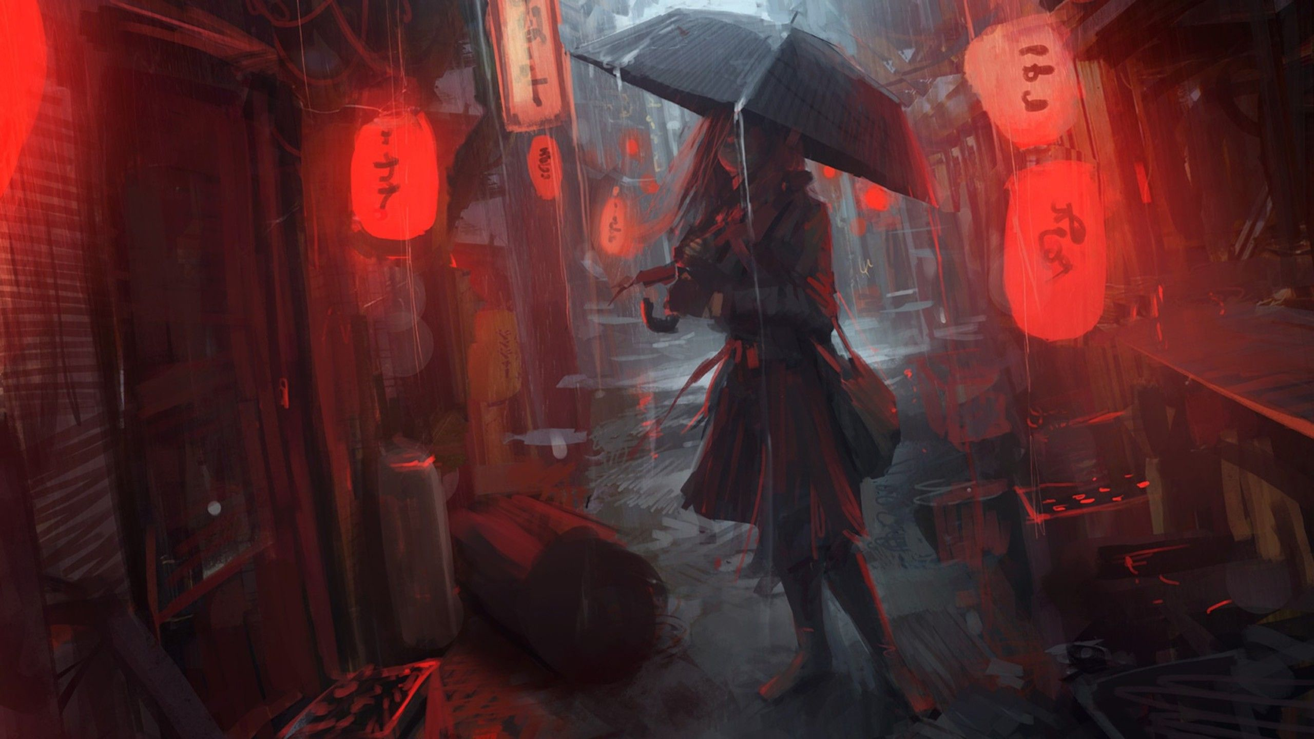 Anime Girl In Rain Hd Anime 4k Wallpapers Images Backgrounds