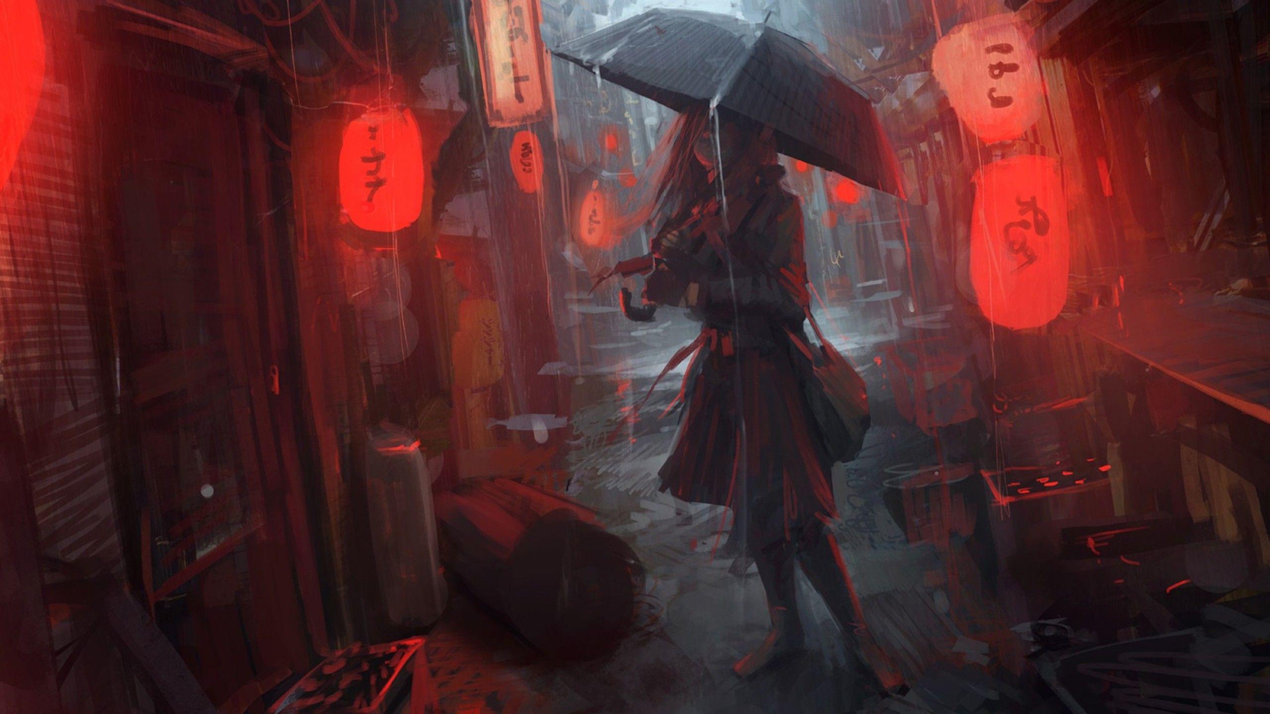 Anime Girl In Rain, HD Anime, 4k Wallpapers, Images ...