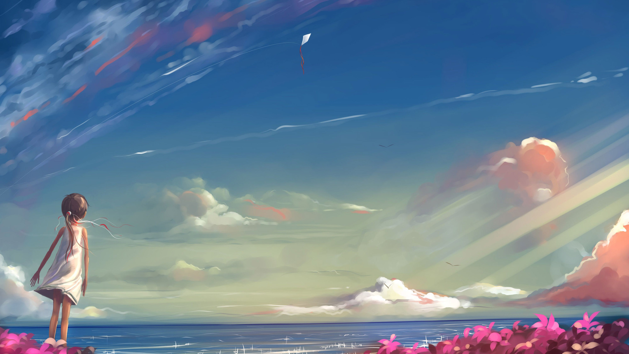Anime Girl Looking At Sky Hd Anime 4k Wallpapers Images