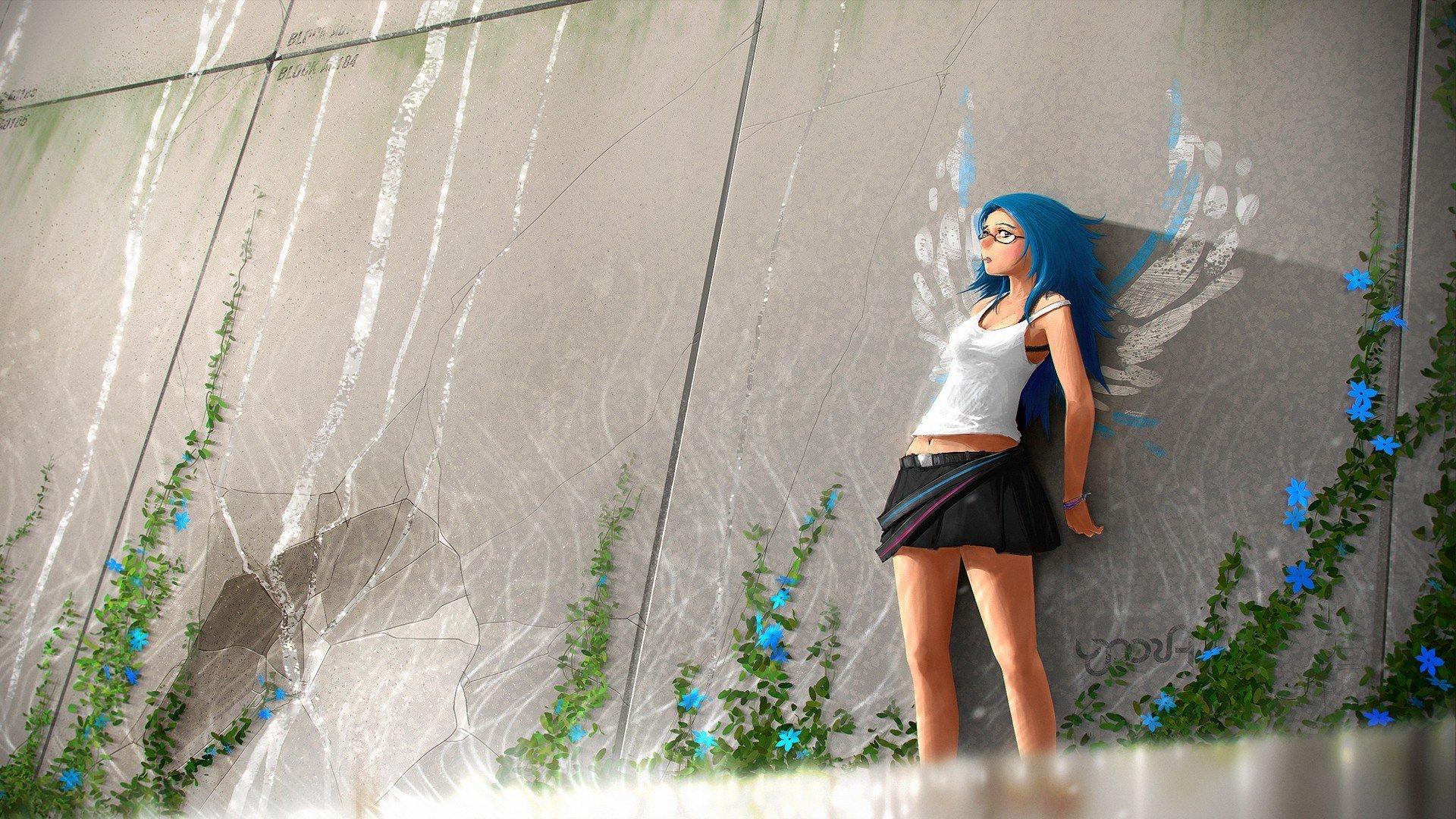 Anime Girl Mini Skirt, HD Anime, 4k Wallpapers, Images