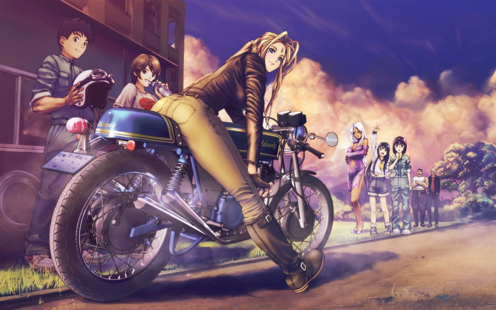 Anime Girl On Bike