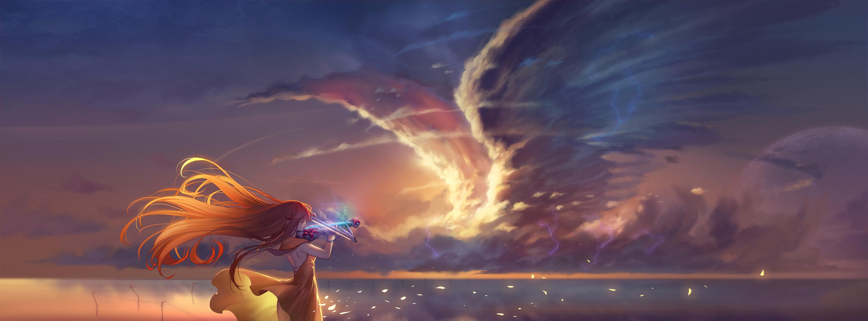 Anime Girl Playing Violin