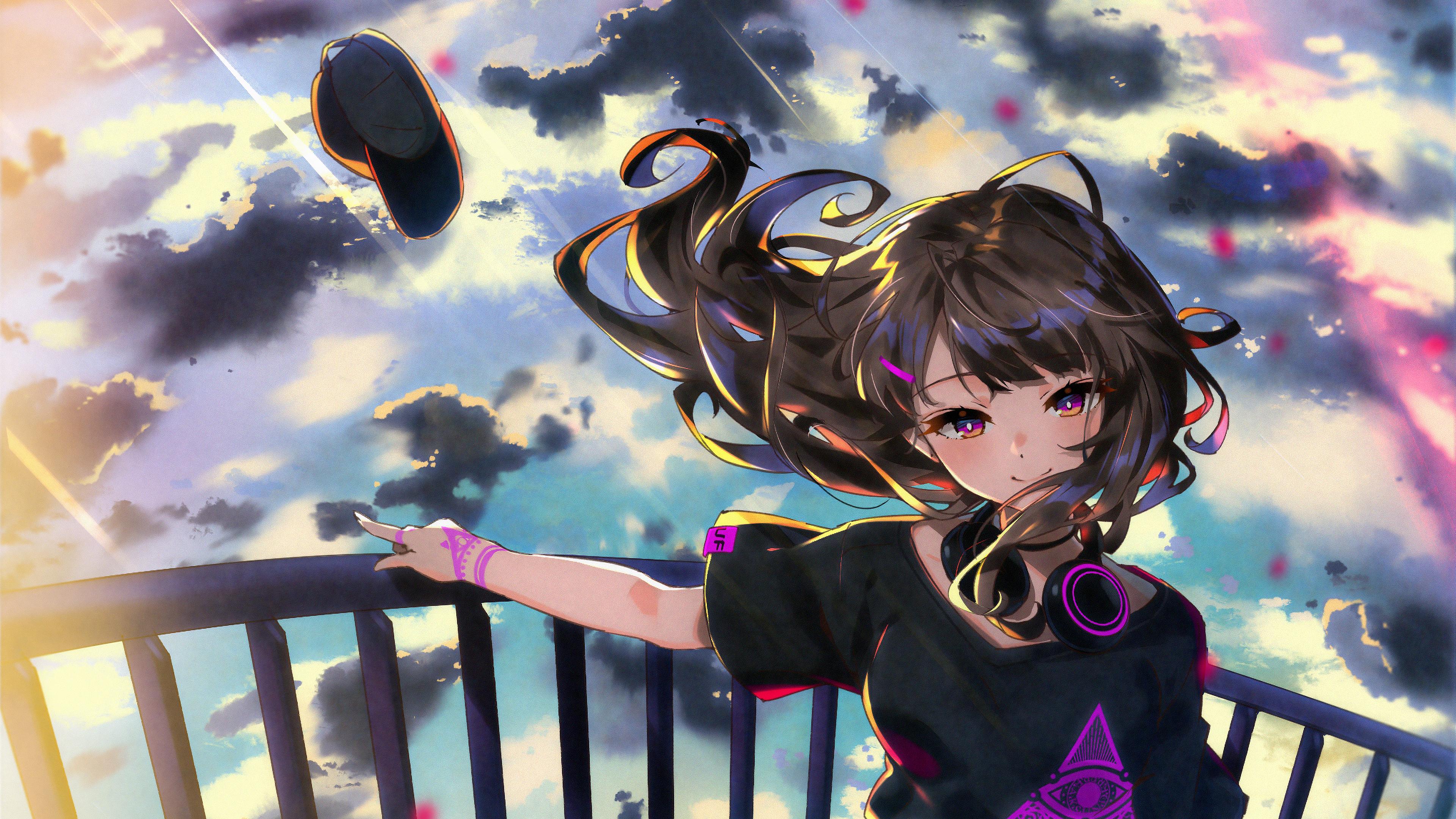 Anime Girl Standing At Height 4k Hd Anime 4k Wallpapers