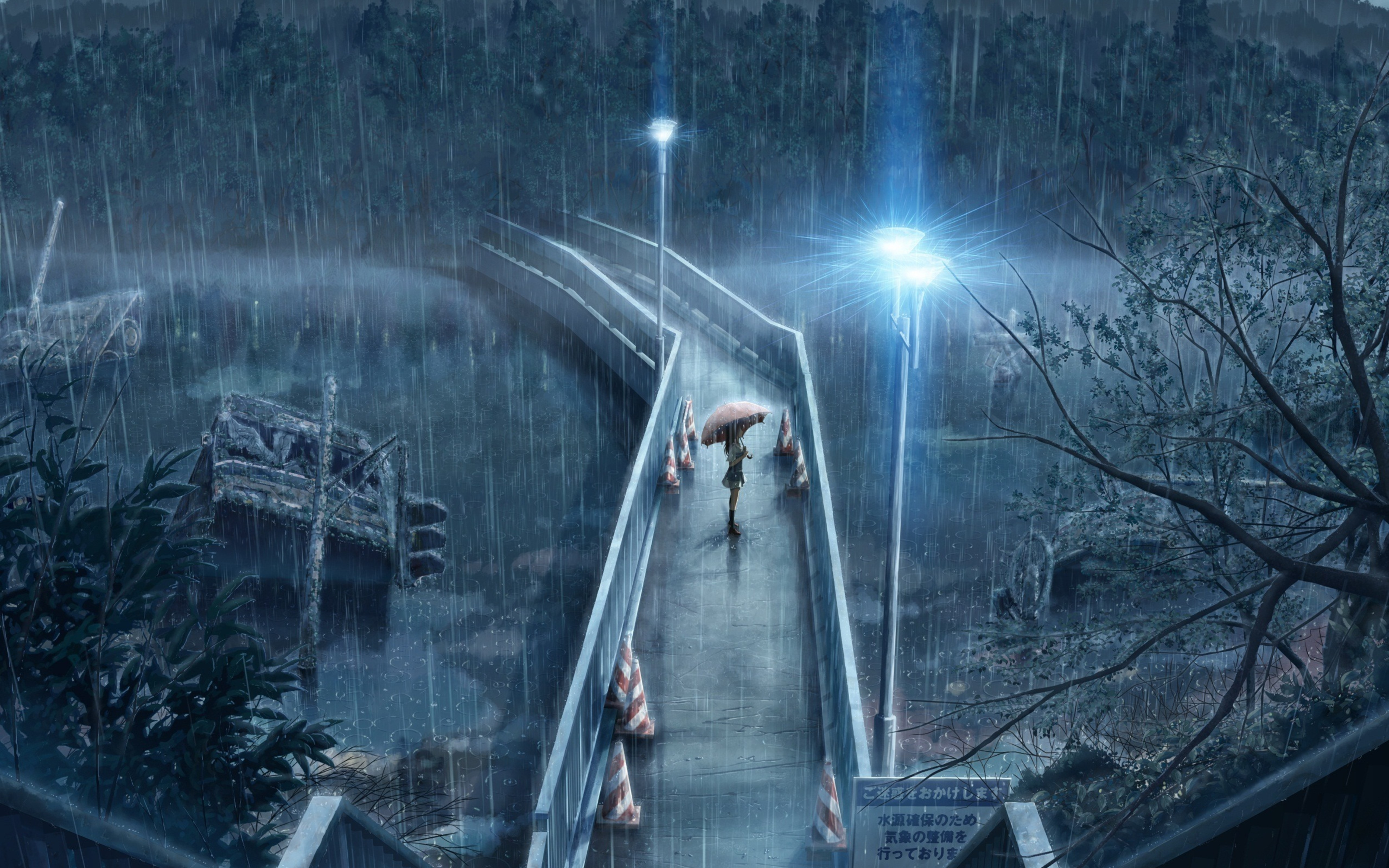 Anime Girl Standing In Rain With Umbrella 5k, HD Anime, 4k ...