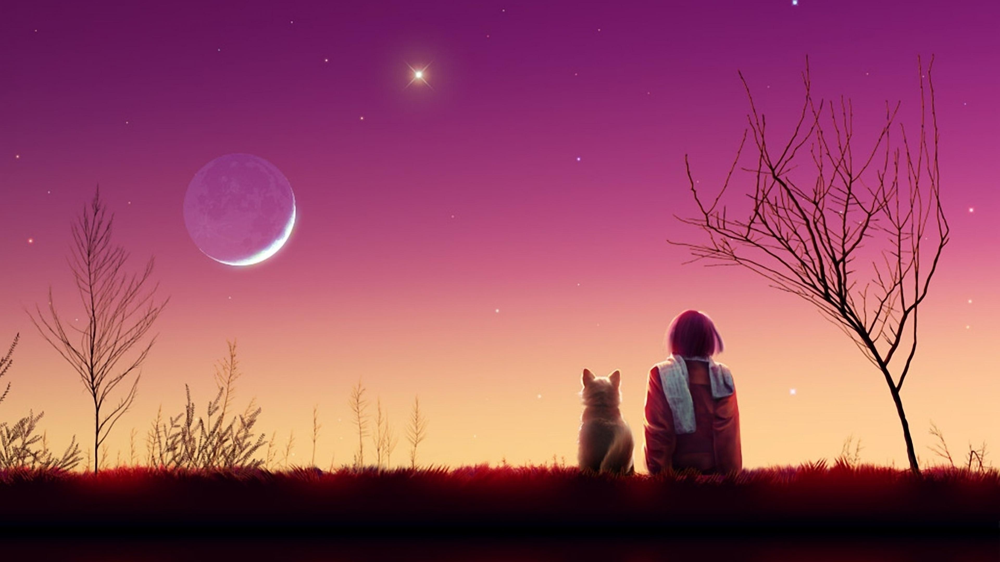 Anime Girl Sunset, HD Anime, 4k Wallpapers, Images ...