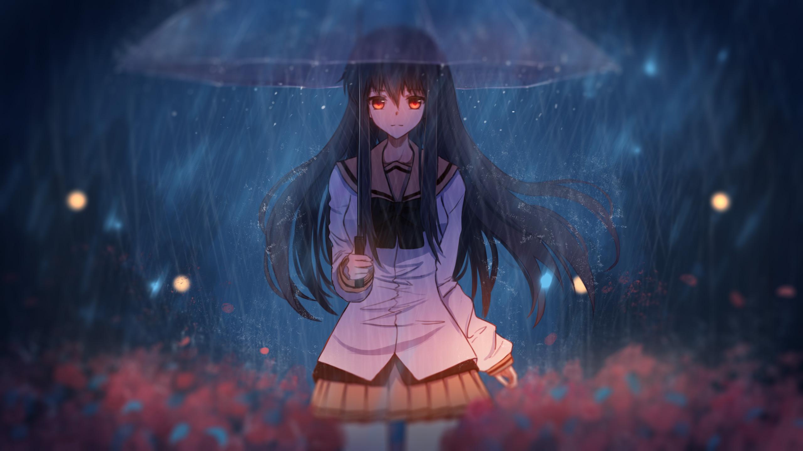 Anime Girl With Umbrella Art, HD Anime, 4k Wallpapers ...