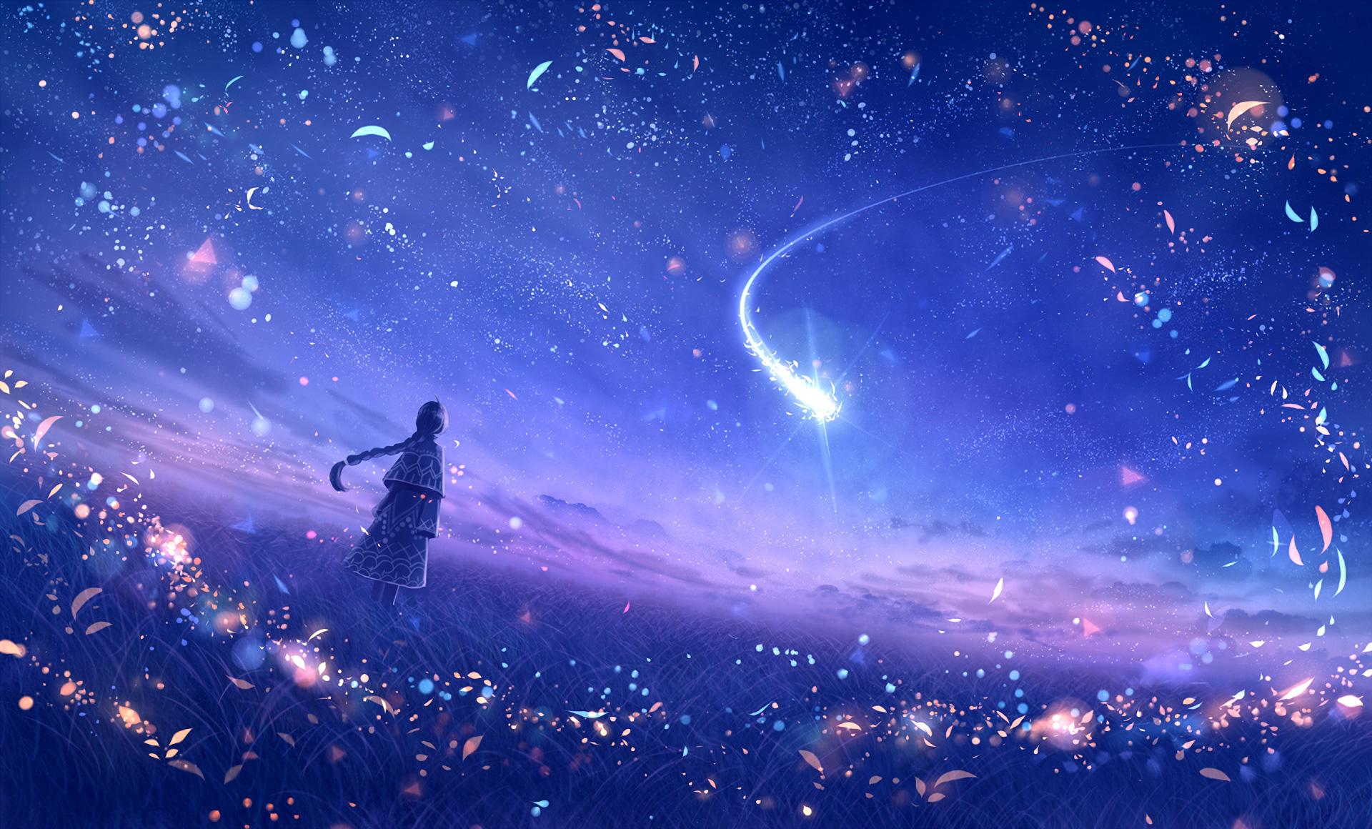 Anime 4k Wallpaper: Anime Original Dreamy Constellations Artwork, HD Anime, 4k