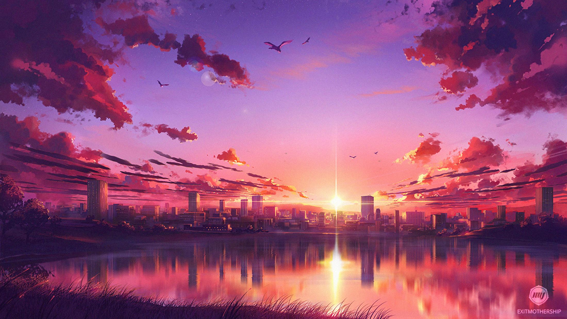 Anime Sunset Scene, HD Anime, 4k Wallpapers, Images ...