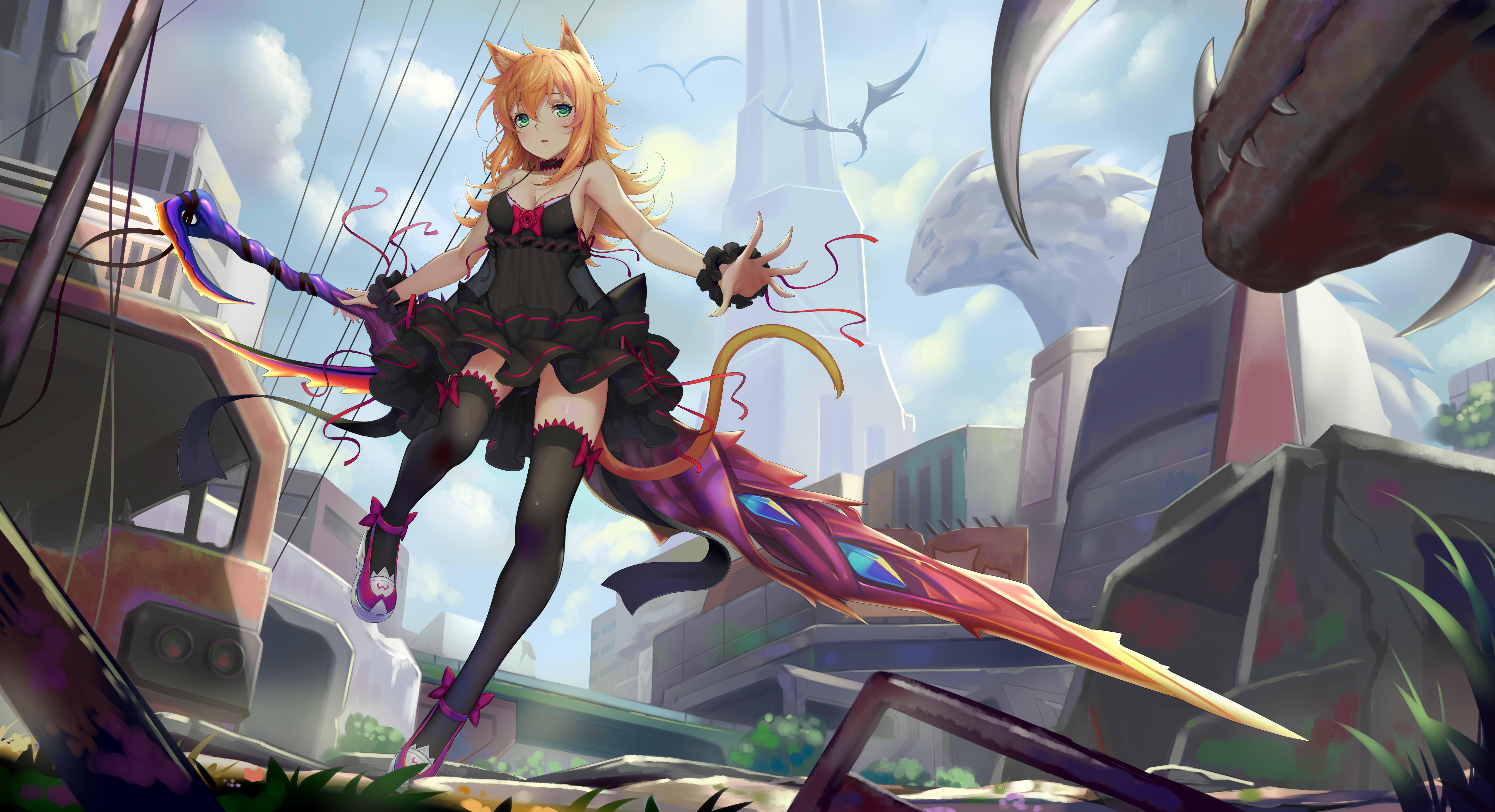 Anime women sword 8k hd anime 4k wallpapers images - Www wallpaper anime ...