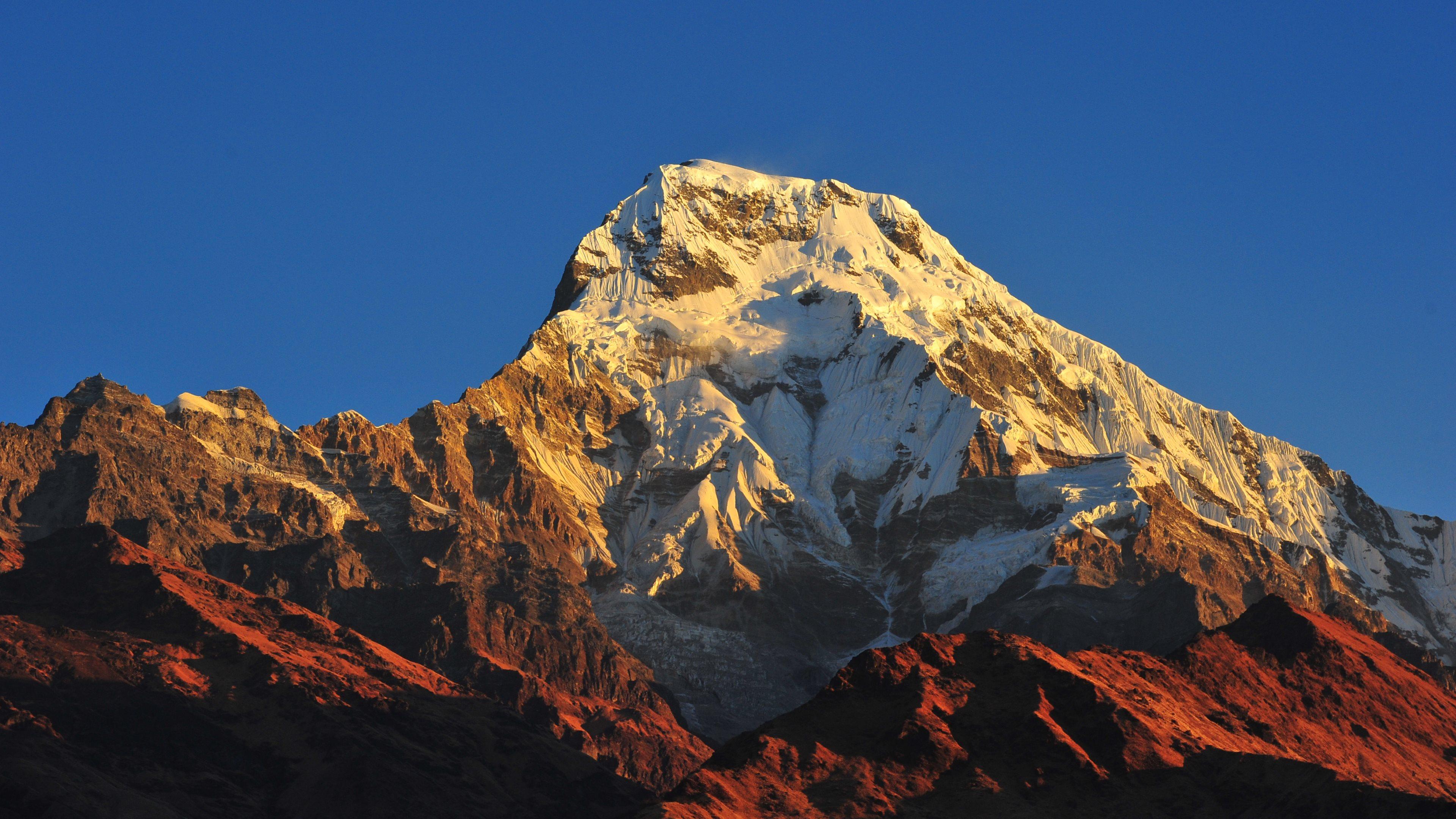 Minimalism Mountain Peak Full Hd Wallpaper: 2048x2048 Annapurna Massif Mountain Range Nepal 4k Ipad