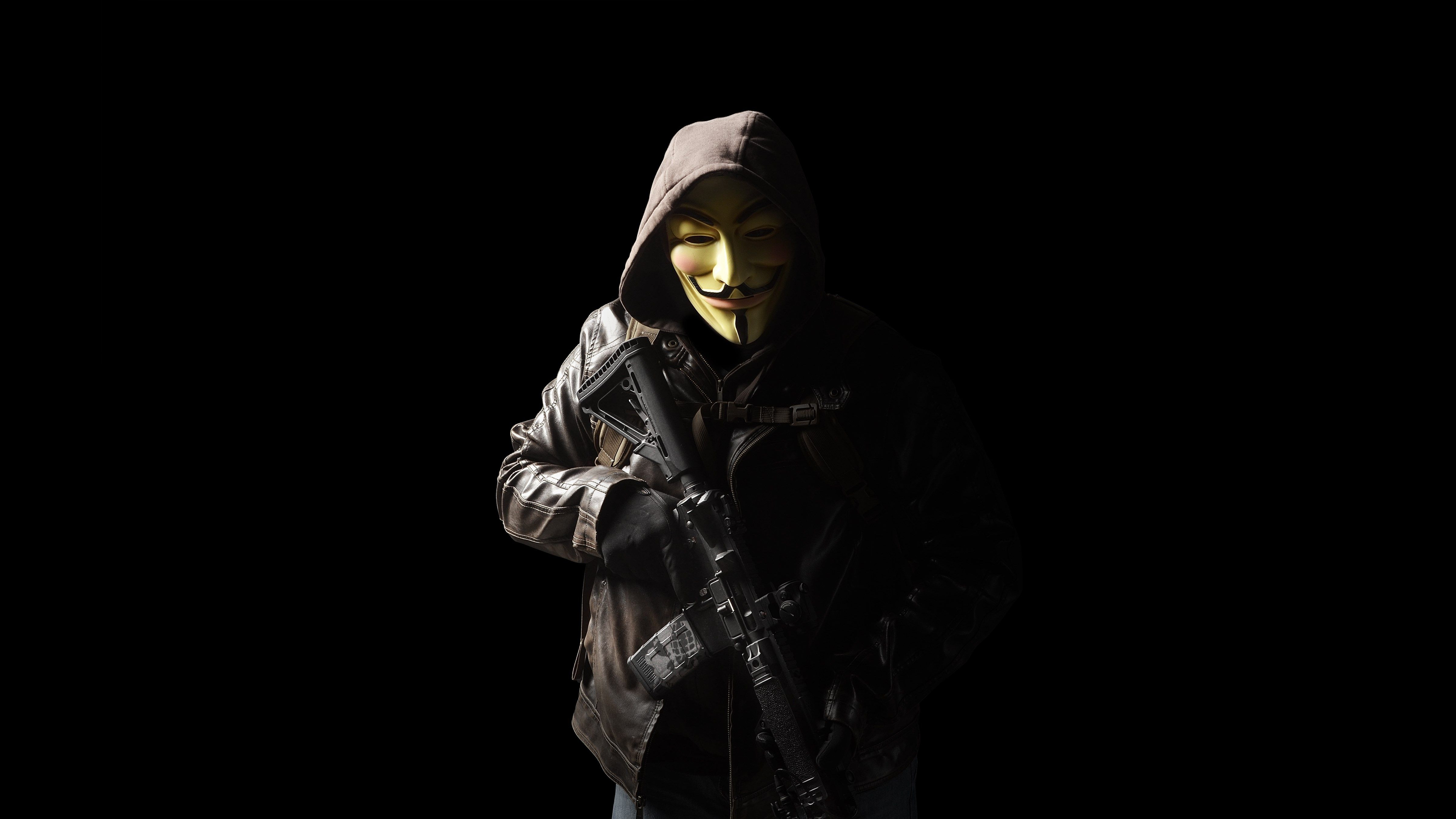 anonymous mask person with gun 5k hd others 4k wallpapers images