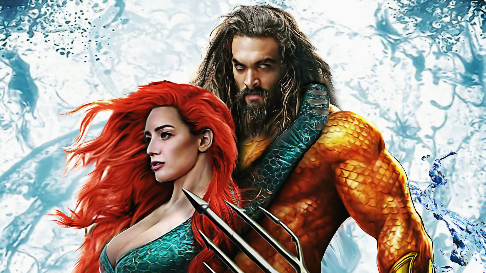 Aquaman And Mera Art Hd Superheroes 4k Wallpapers Images