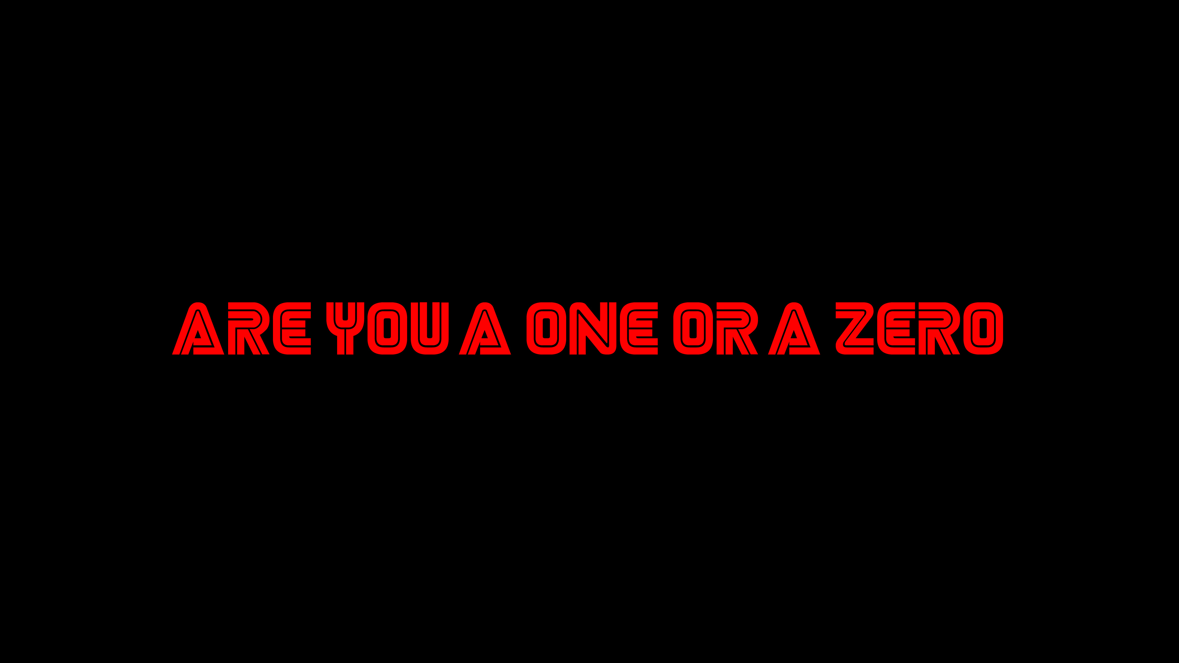 Are You A One Or A Zero Mr Robot Typography 4k Hd Tv Shows