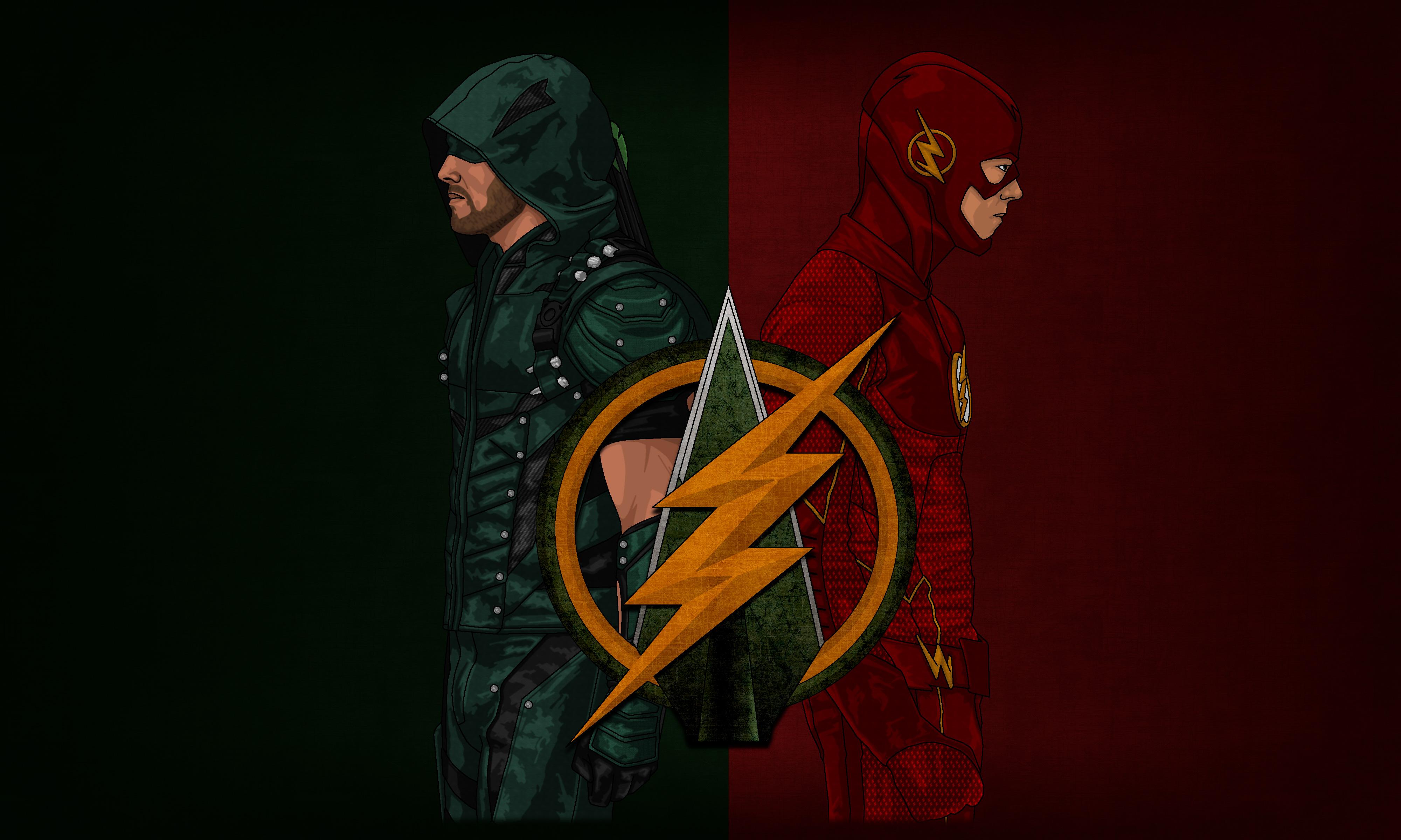 Arrow Flash Artwork 4k Hd Tv Shows 4k Wallpapers Images