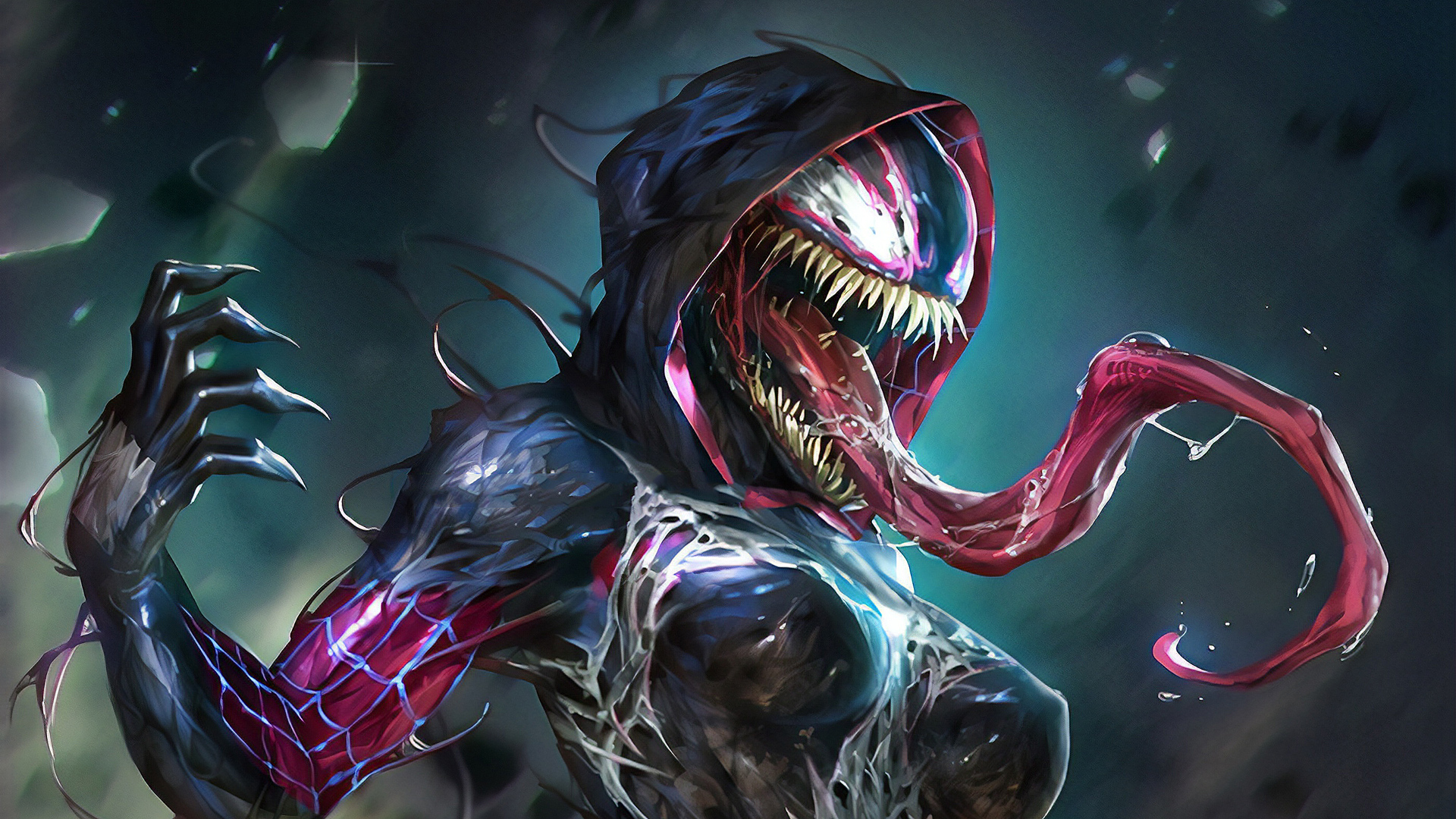 Art Lady Venom Hd Superheroes 4k Wallpapers Images Backgrounds