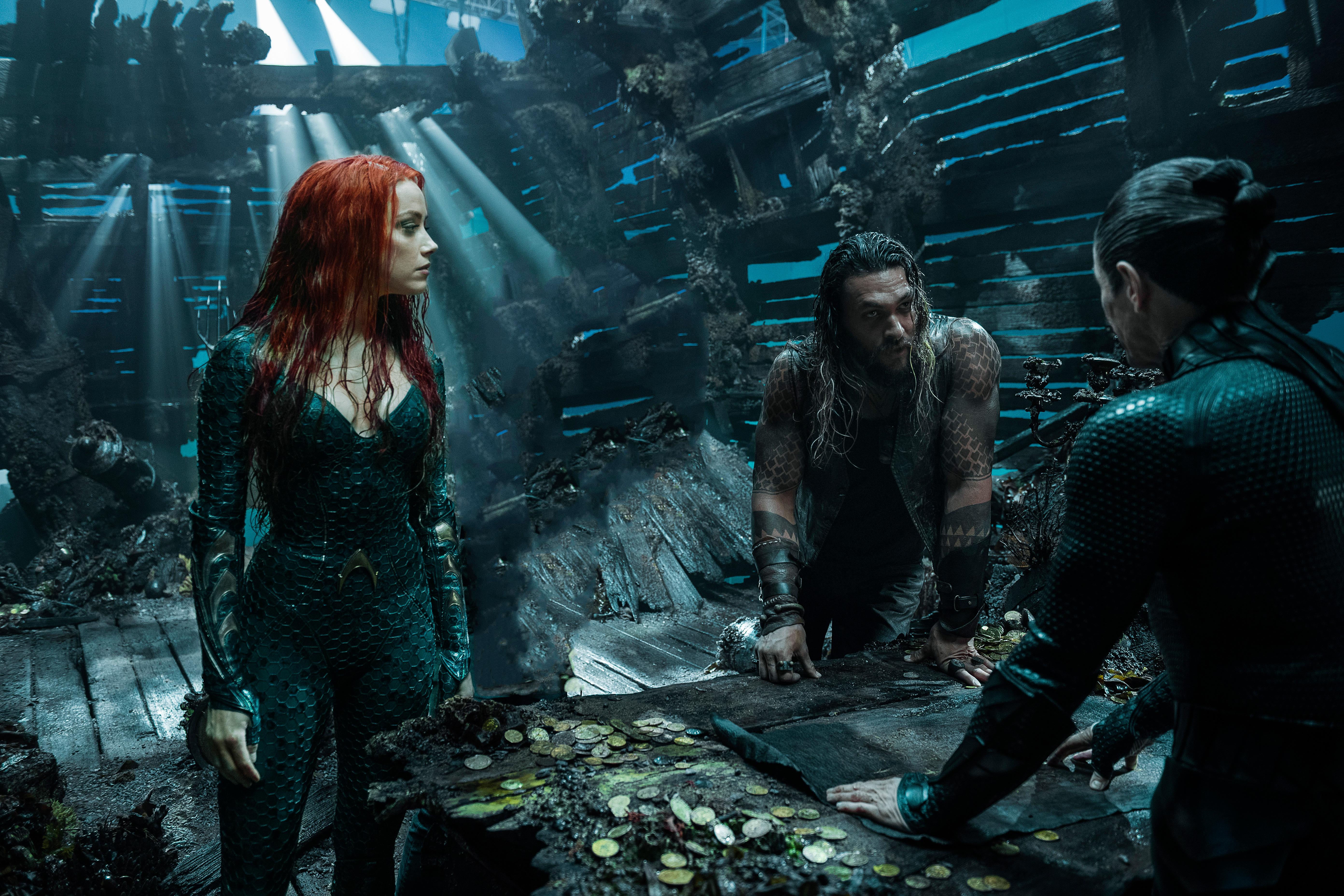 Aquaman 2018 Movie 4k Wallpapers: Arthur Curry And Amber Heard As Mera In Aquaman 2018, HD