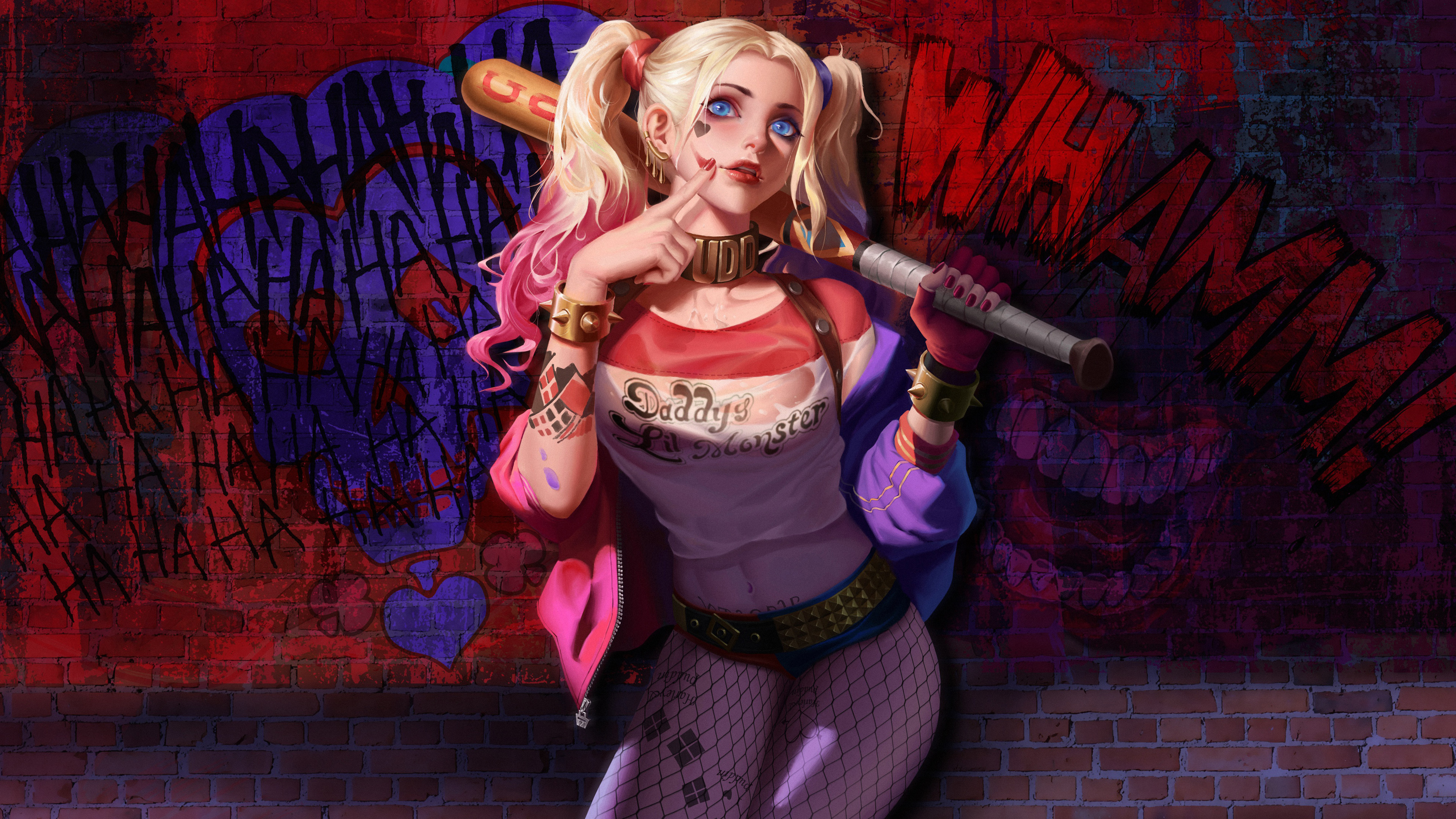 Artwork Harley Quinn 4k, HD Superheroes, 4k Wallpapers ...
