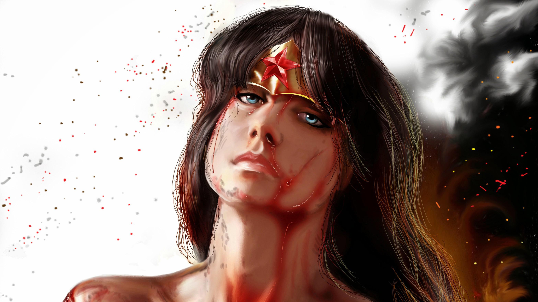 1280x1024 Wonder Woman Movie 1280x1024 Resolution Hd 4k: 1280x1024 Artwork Wonder Woman Bleeding 1280x1024