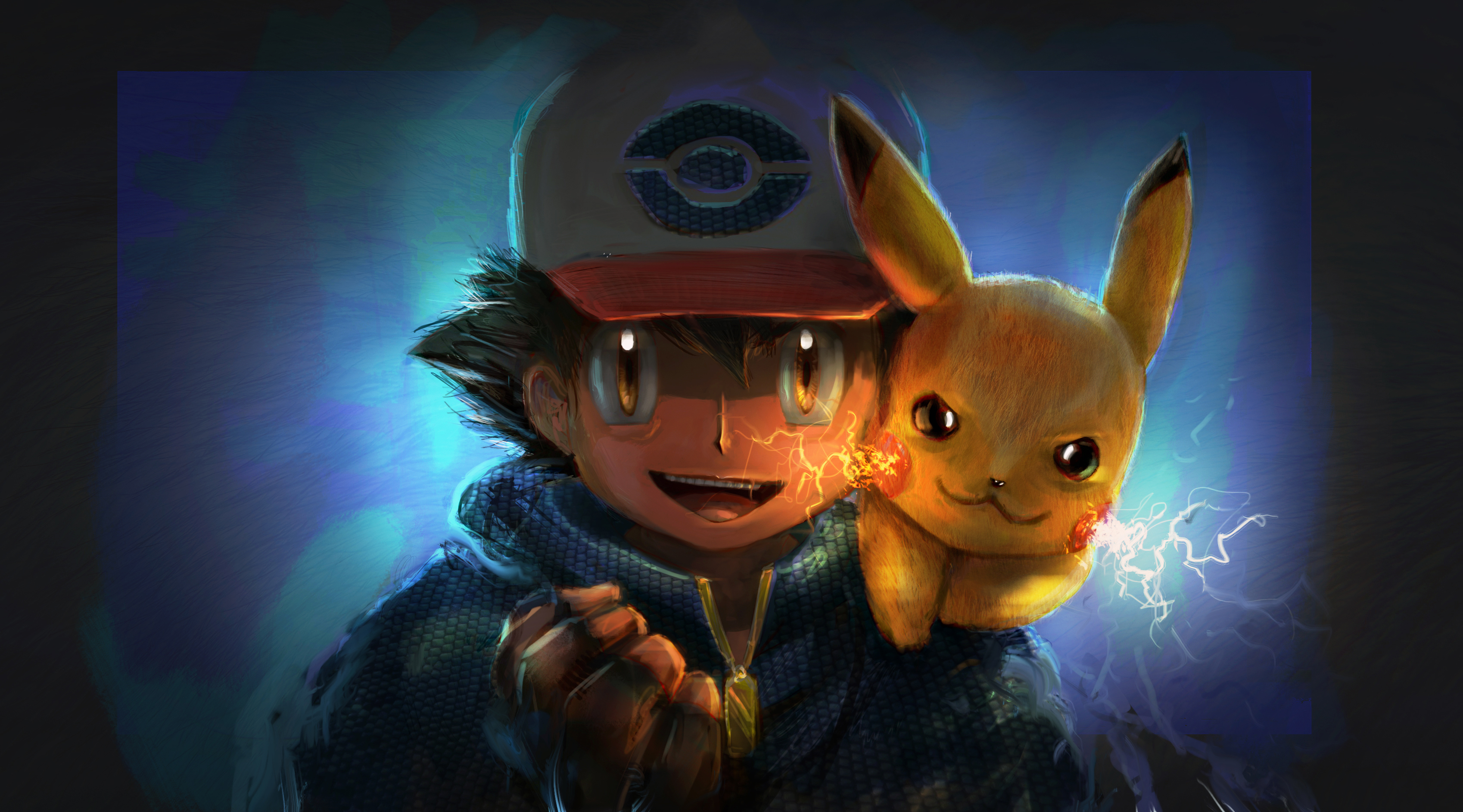 Ash And Pikachu Artwork Hd Anime 4k Wallpapers Images