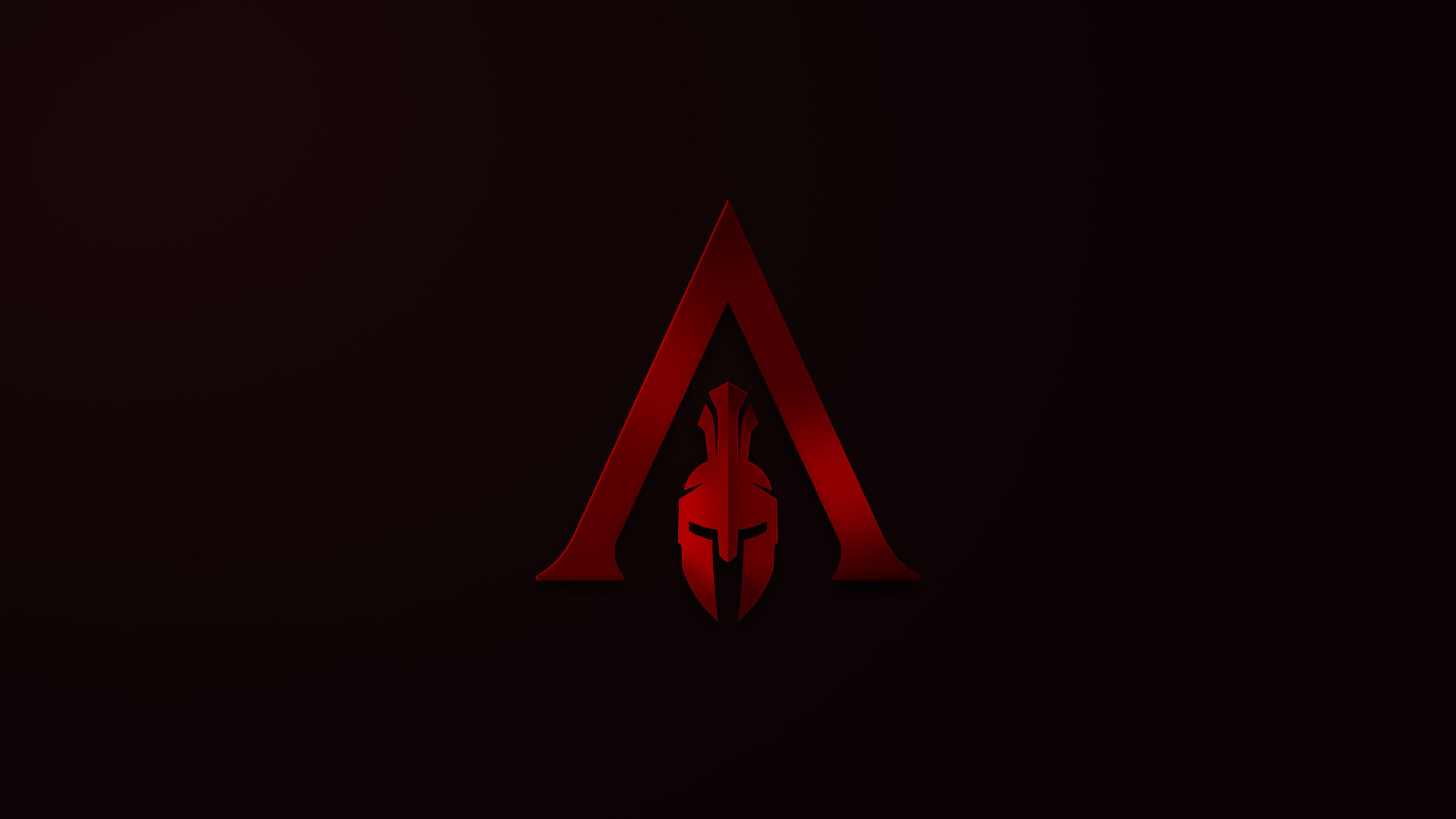 Assassins Creed Odyssey Minimalism Logo 4k, HD Games, 4k