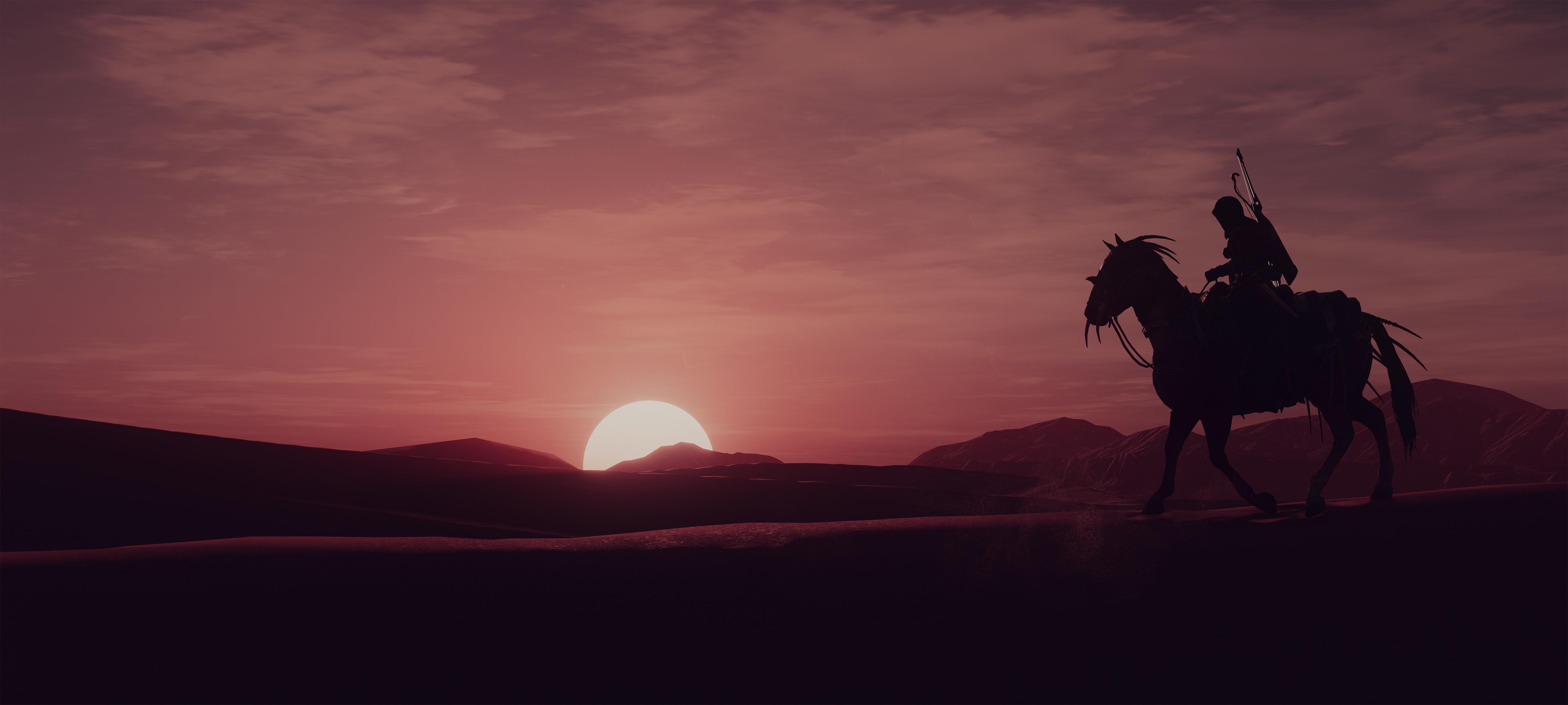 2018 Assassins Creed Origins 4k Hd Games 4k Wallpapers: Assassins Creed Origins Sunset Time 4k, HD Games, 4k