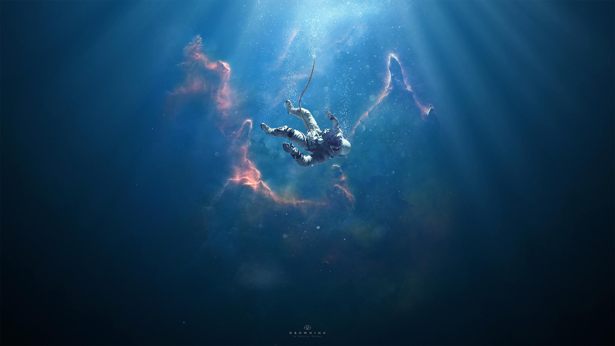 Astronaut Drowning Manipulation Hd Artist 4k Wallpapers