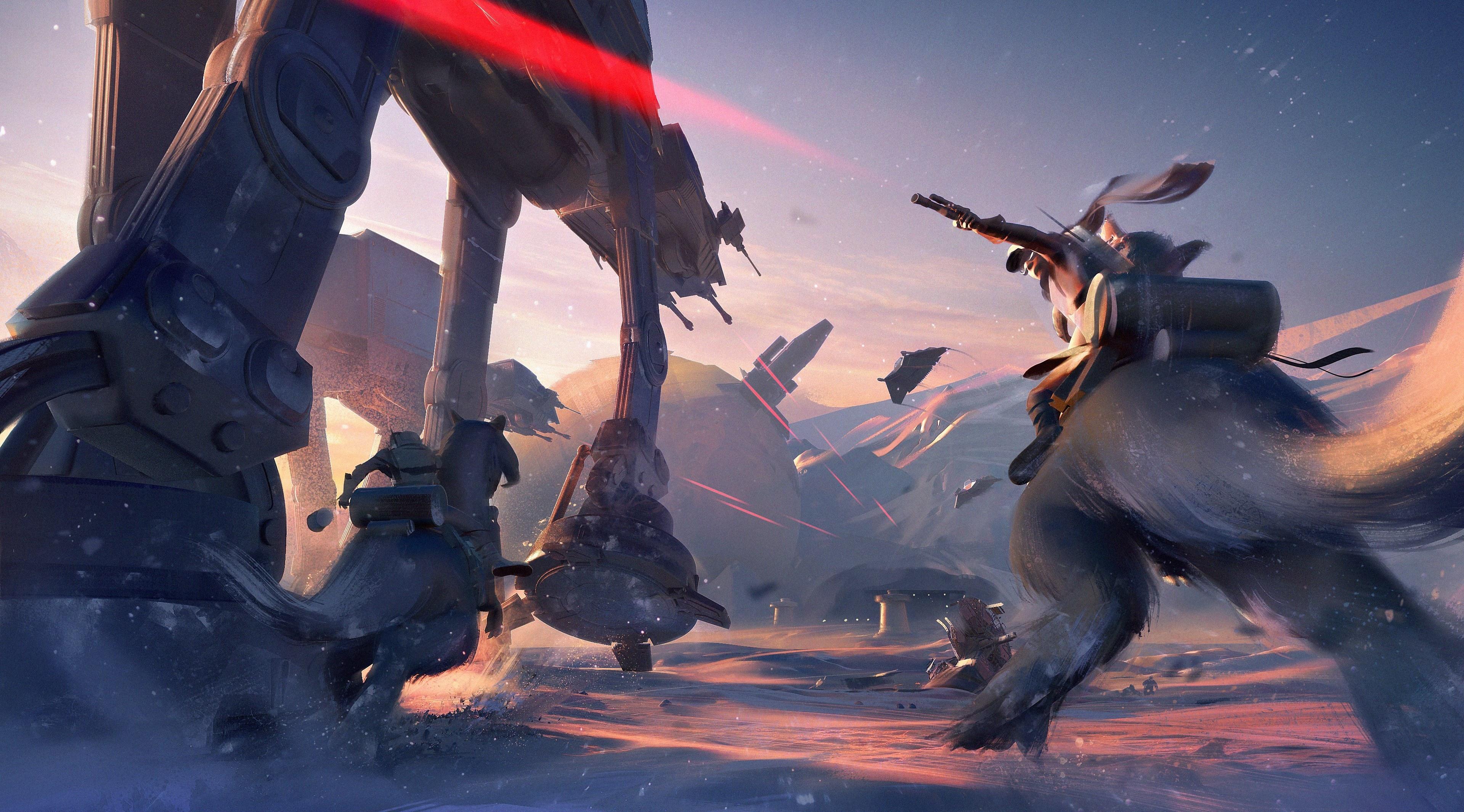 Star Wars Battlefront 2 Background: AT AT Walker Star Wars Battlefront II, HD Games, 4k