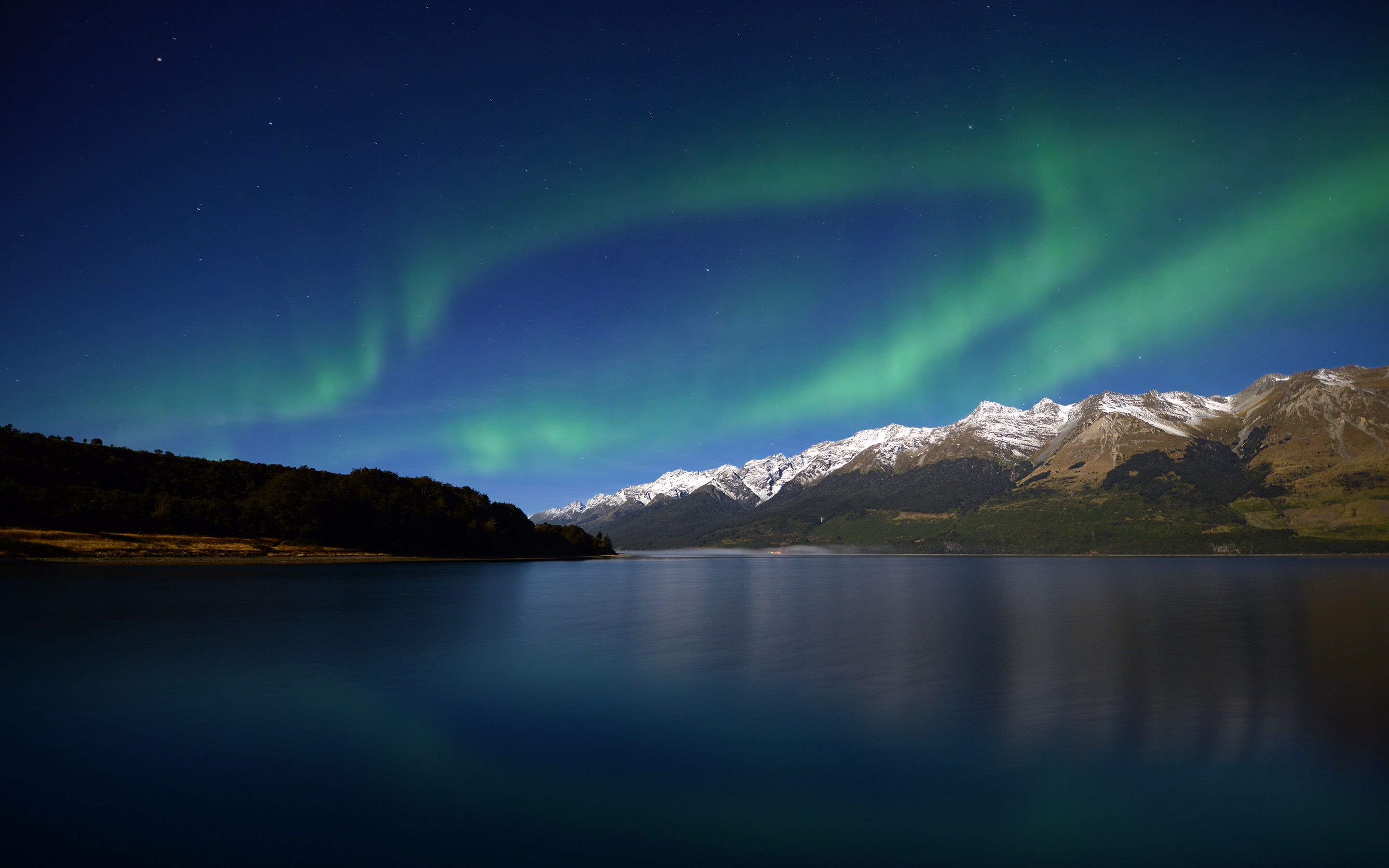 Aurora mountains hd nature 4k wallpapers images backgrounds photos and pictures - Background images 4k hd ...
