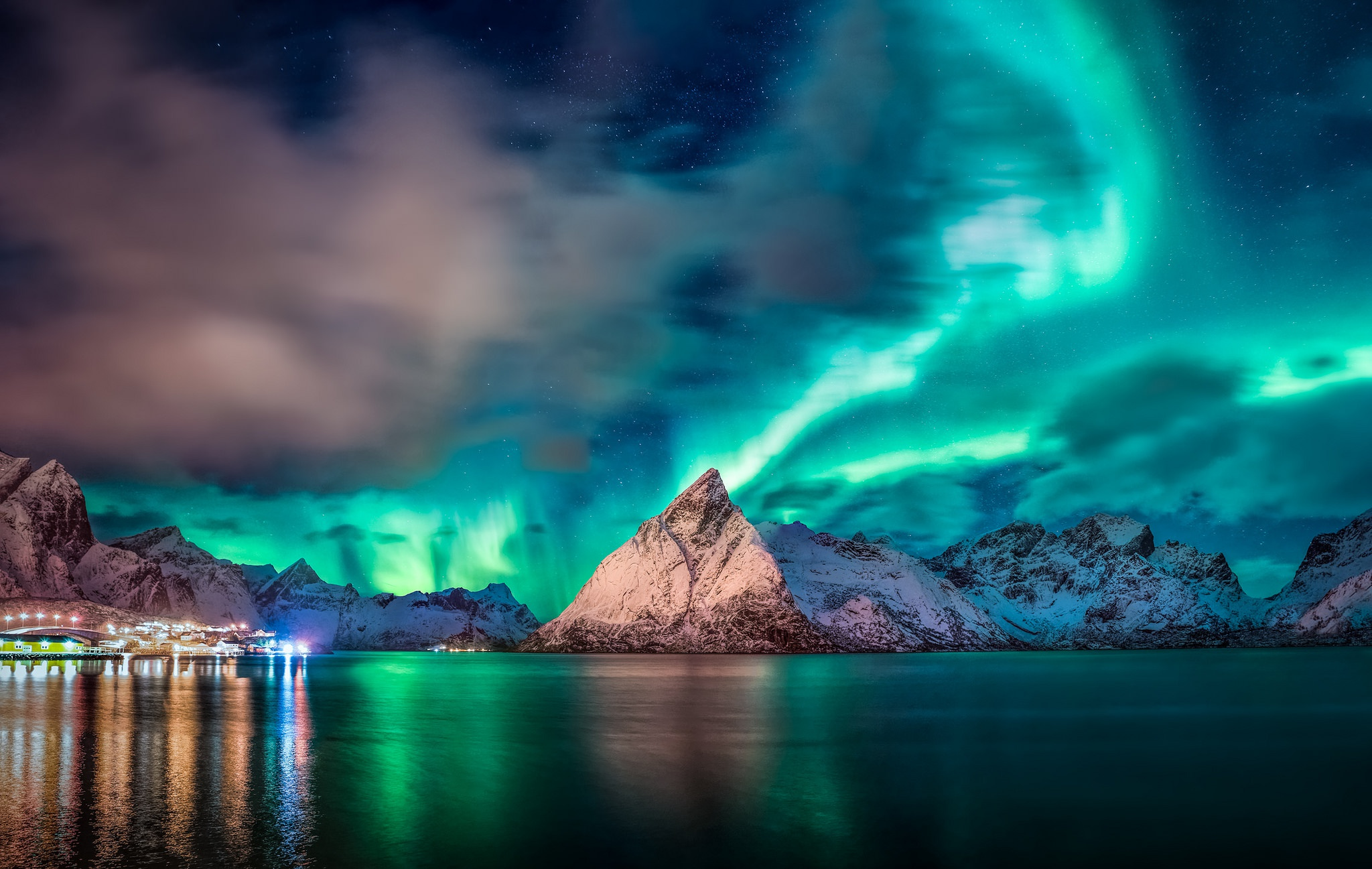 Aurora Reflection Over Mountains, HD Nature, 4k Wallpapers, Images, Backgrounds, Photos and Pictures