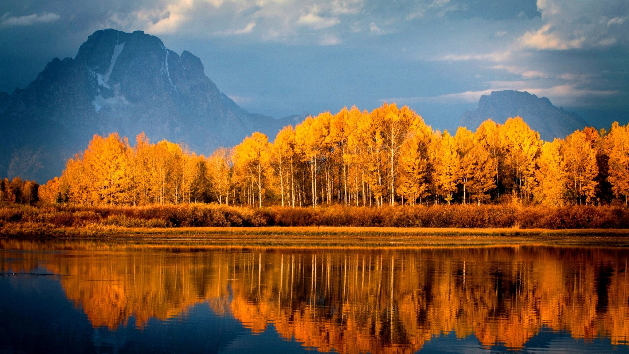 Autumn Trees On Lake, HD Nature, 4k Wallpapers, Images ...
