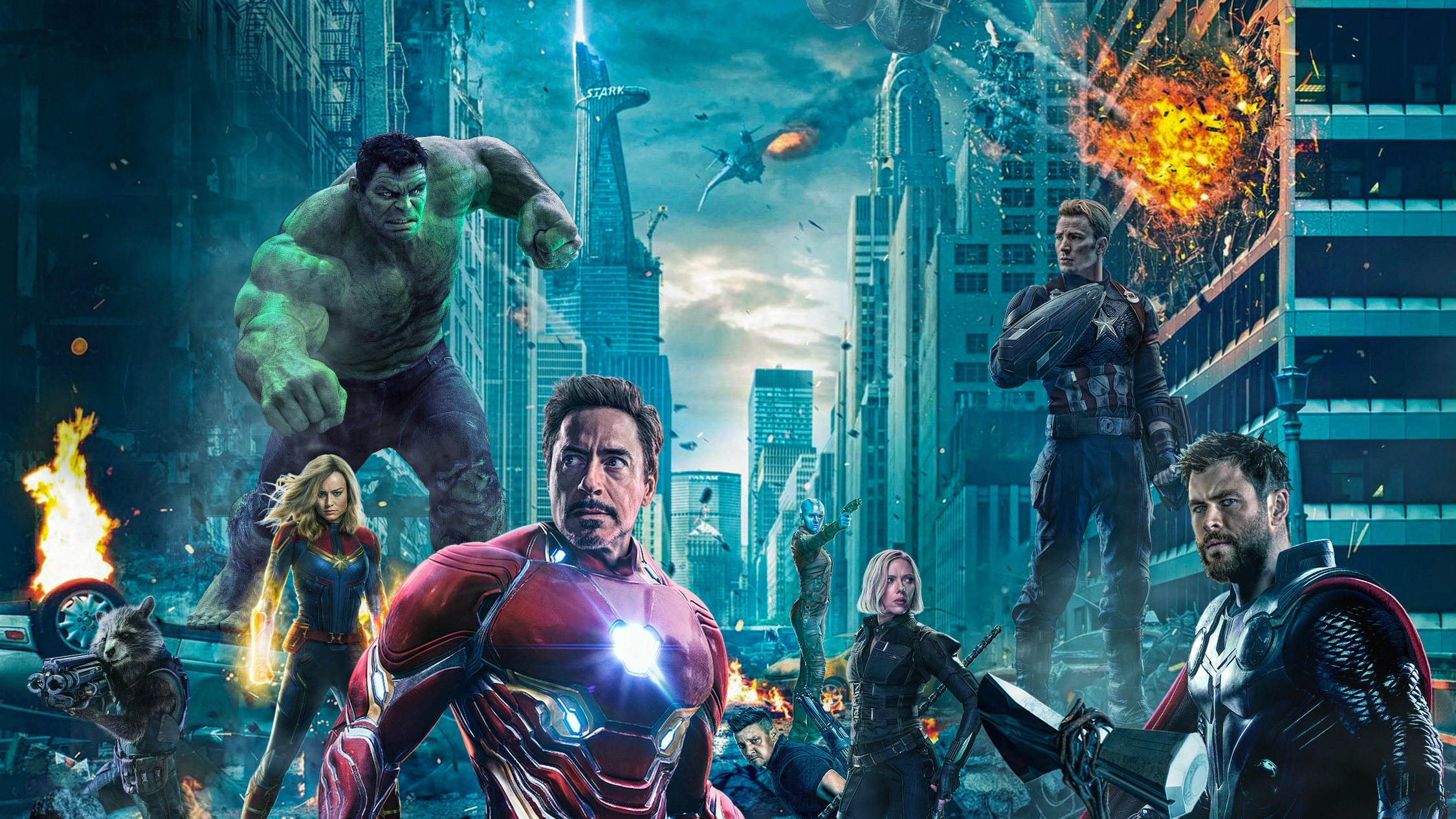 Avengers 4 Wallpapers: Avengers 4 Battle At New York, HD Movies, 4k Wallpapers