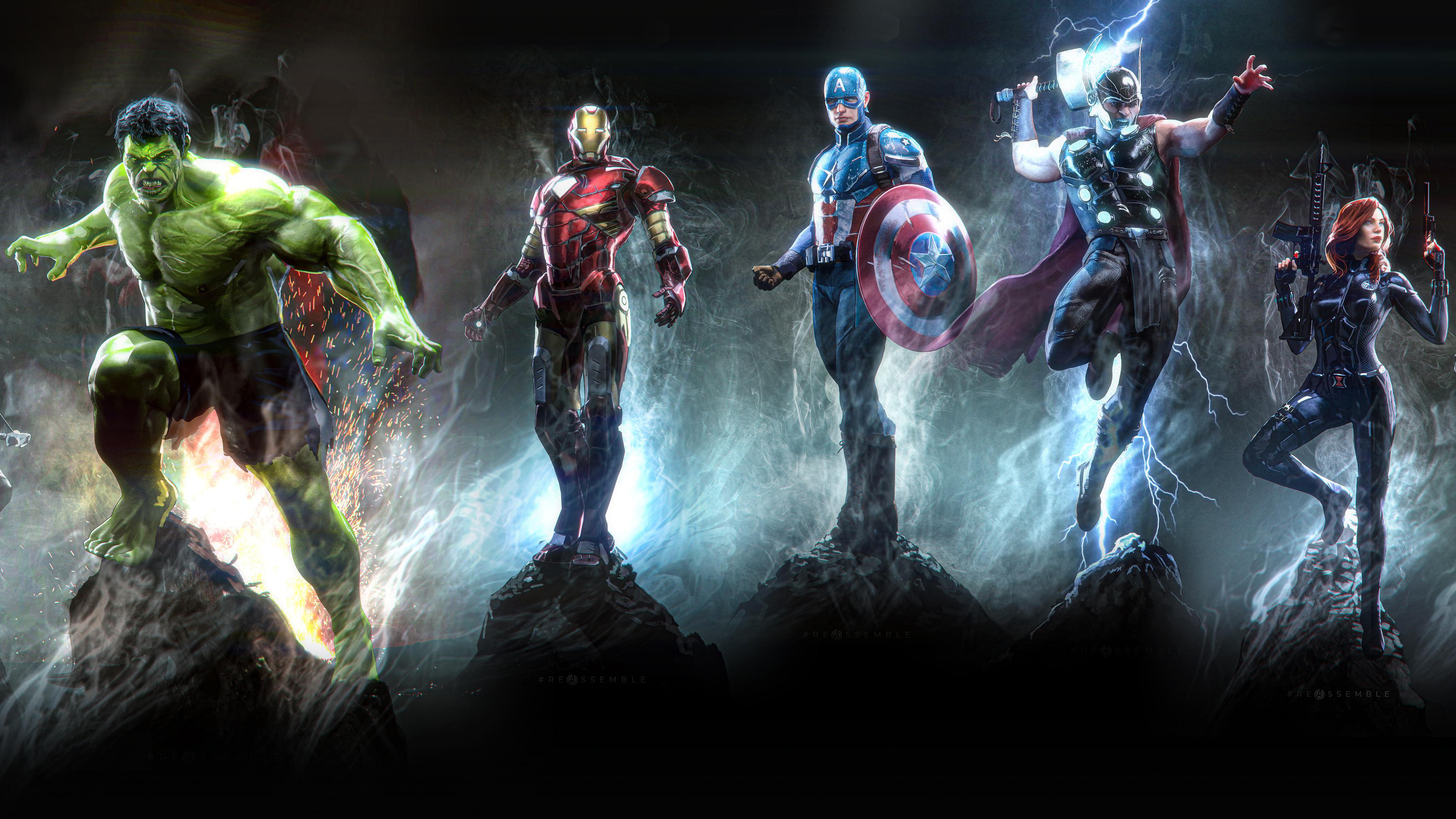1280x720 Avengers 4k Art 720P HD 4k Wallpapers, Images ...