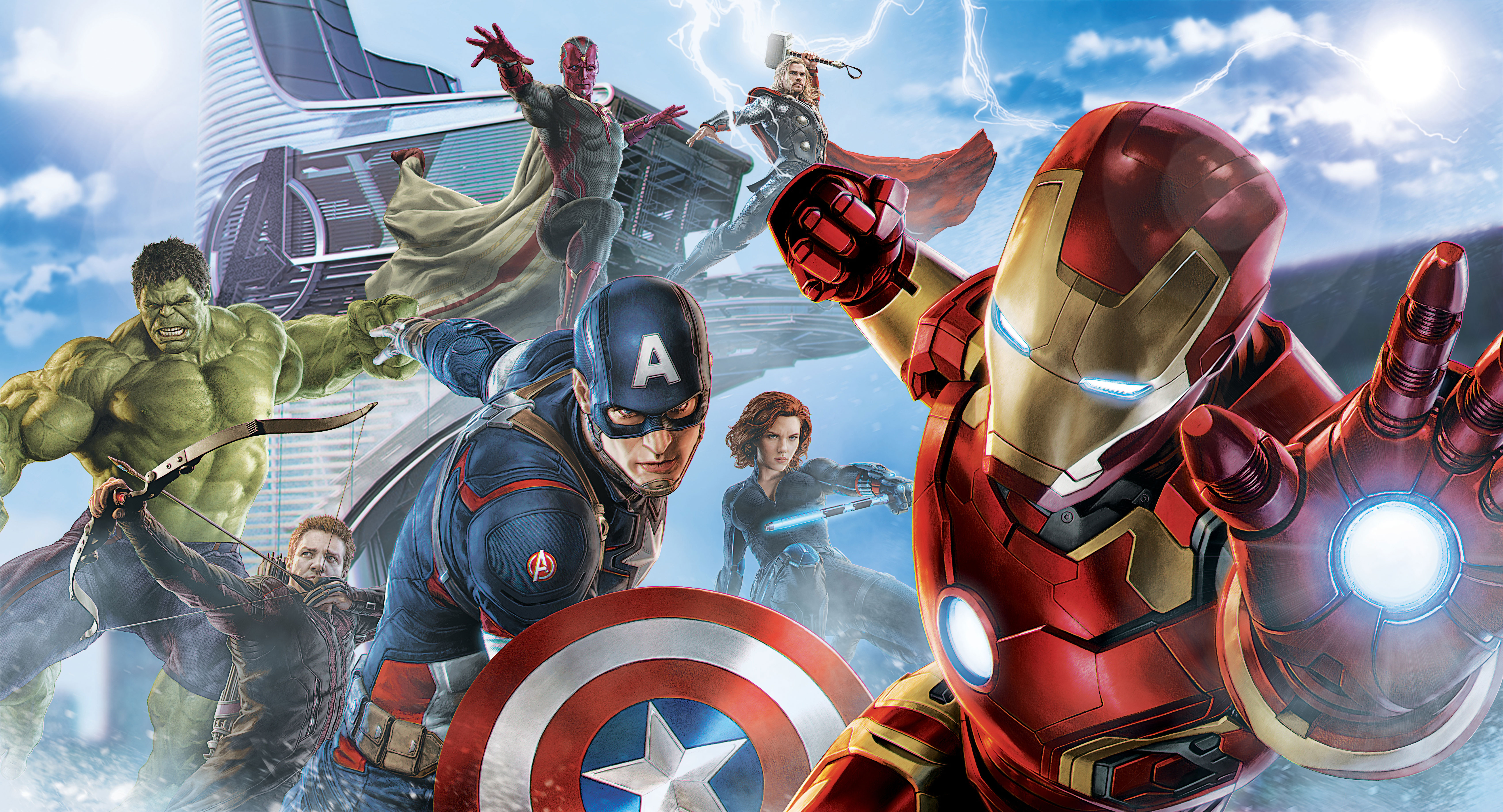 Avengers Artwork 5k, HD Superheroes, 4k Wallpapers, Images ...