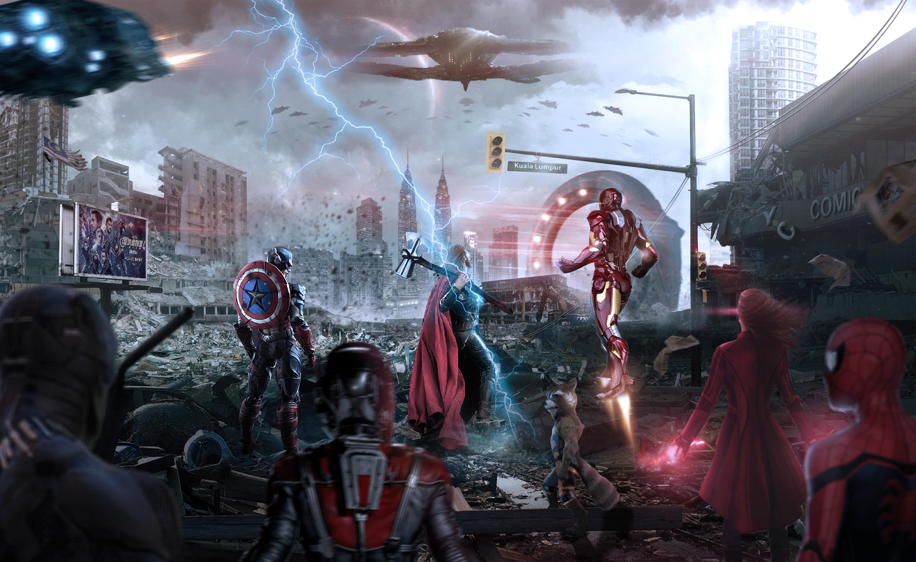 Avengers Endgame Assemble 4k 2019 Hd Superheroes 4k Wallpapers