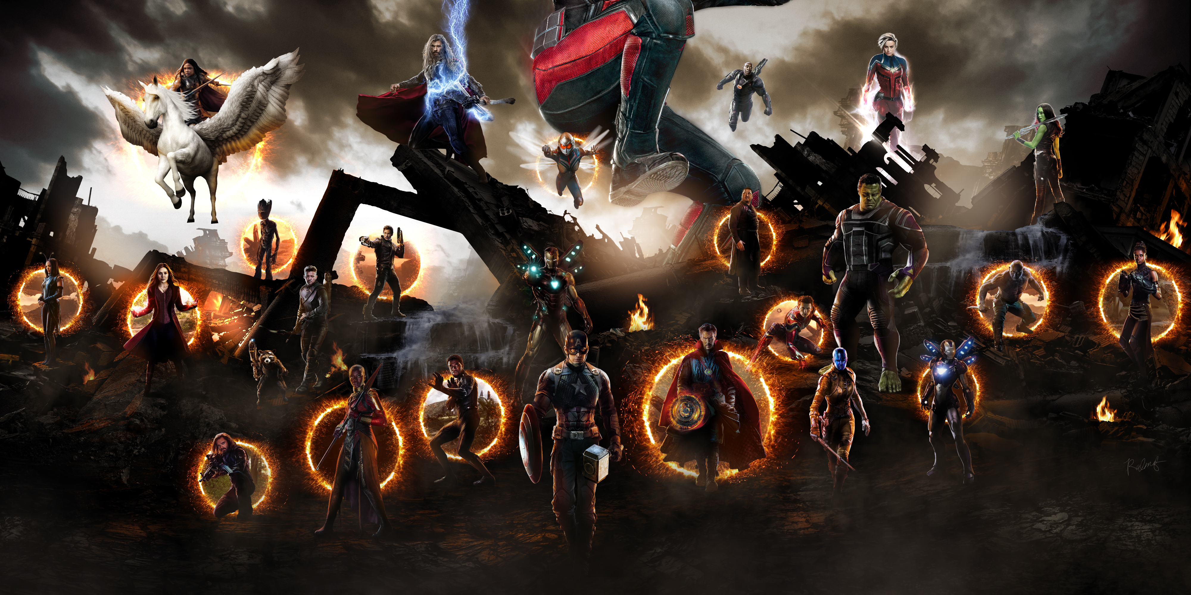 480x800 Avengers Endgame Final Battle Scene Galaxy Note,HTC