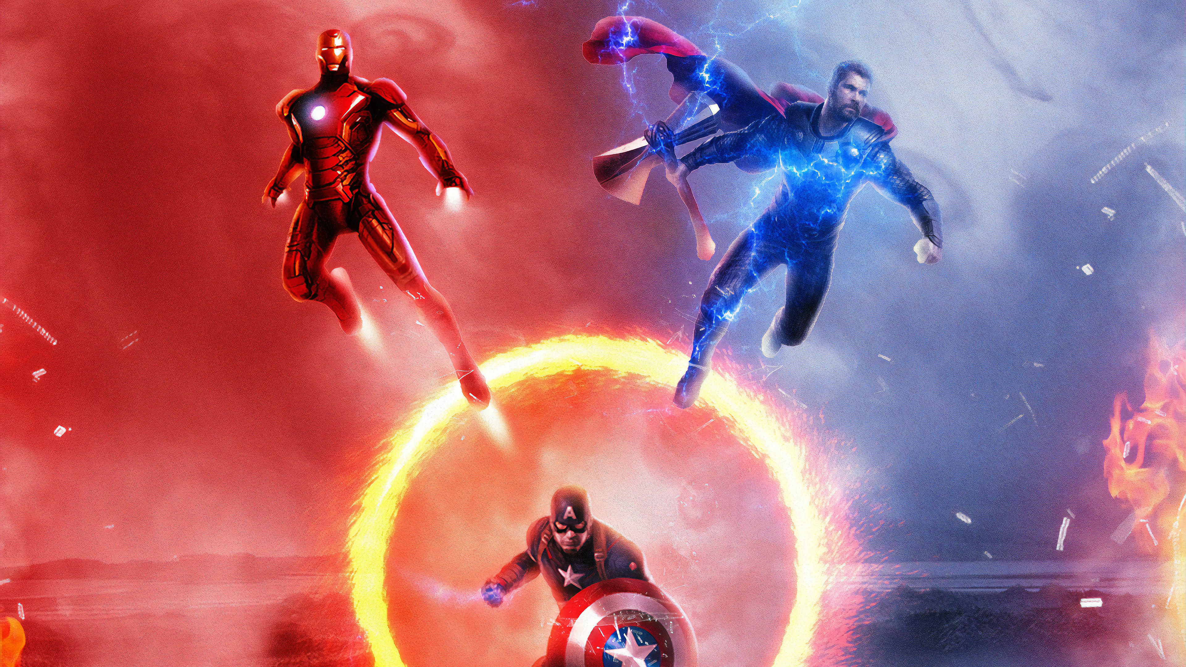 Avengers Endgame Trinity 4k, HD Superheroes, 4k Wallpapers ...