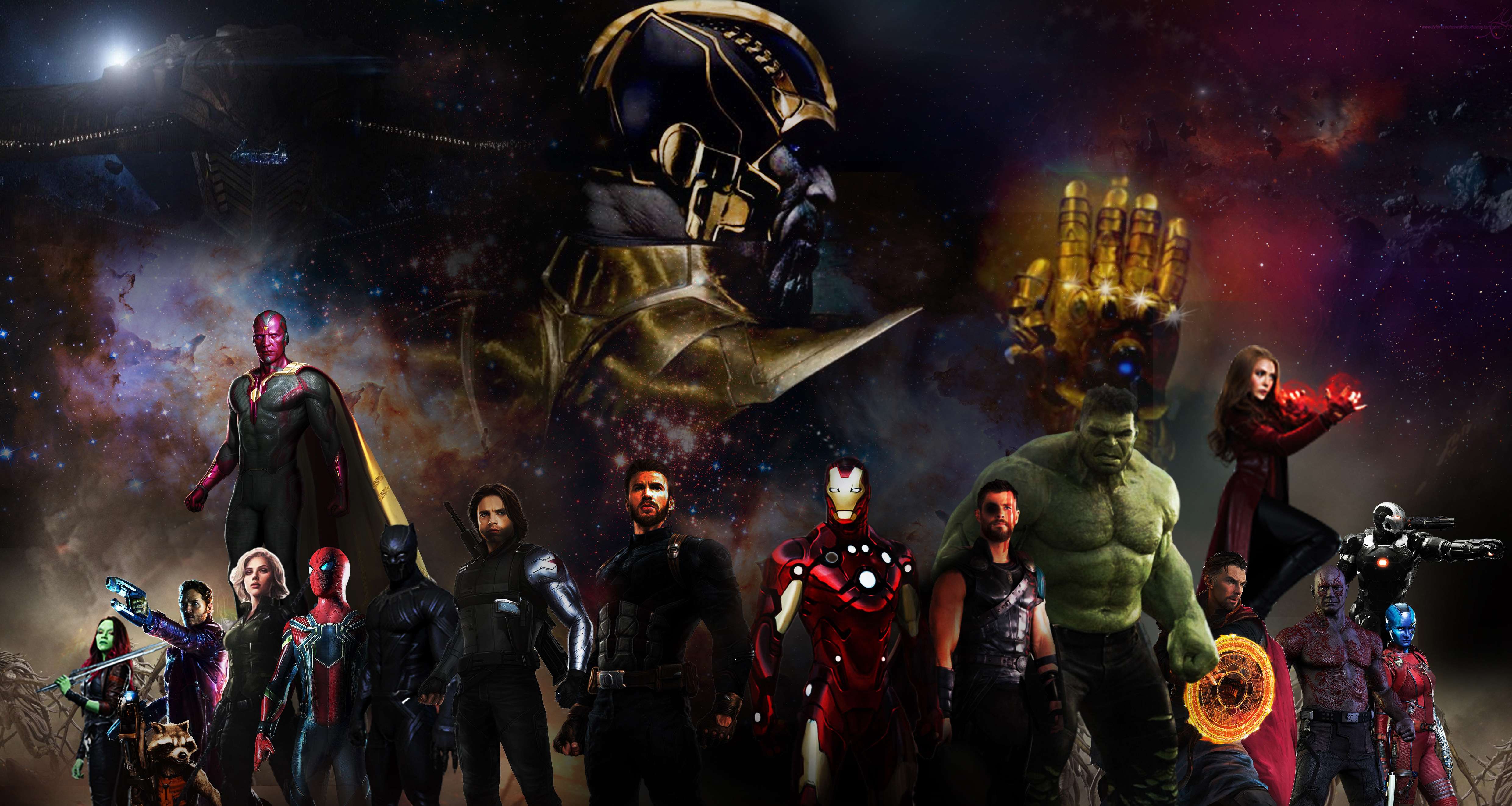 avengers infinity war 2018 5k art, hd movies, 4k wallpapers, images