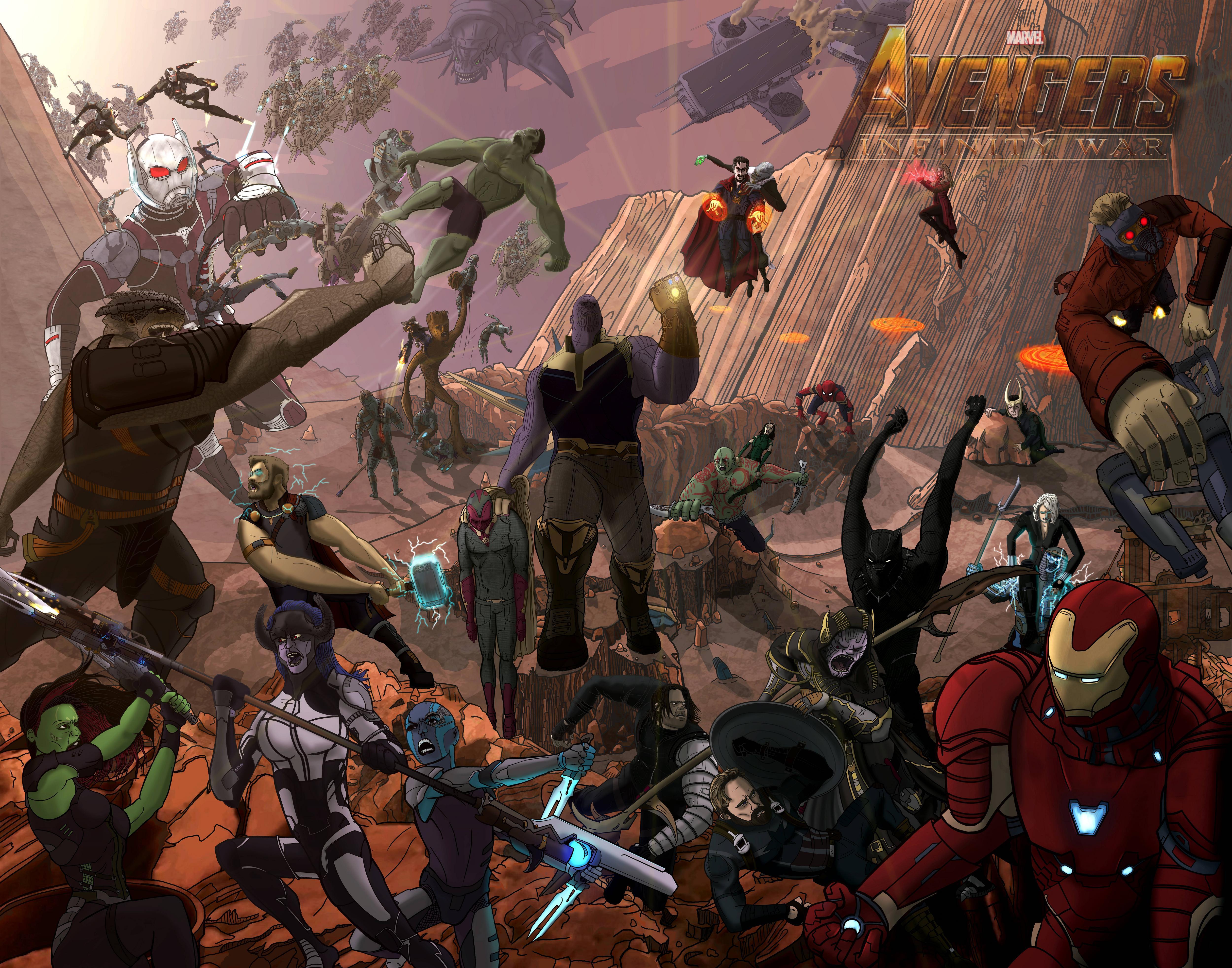 infinity war desktop wallpaper