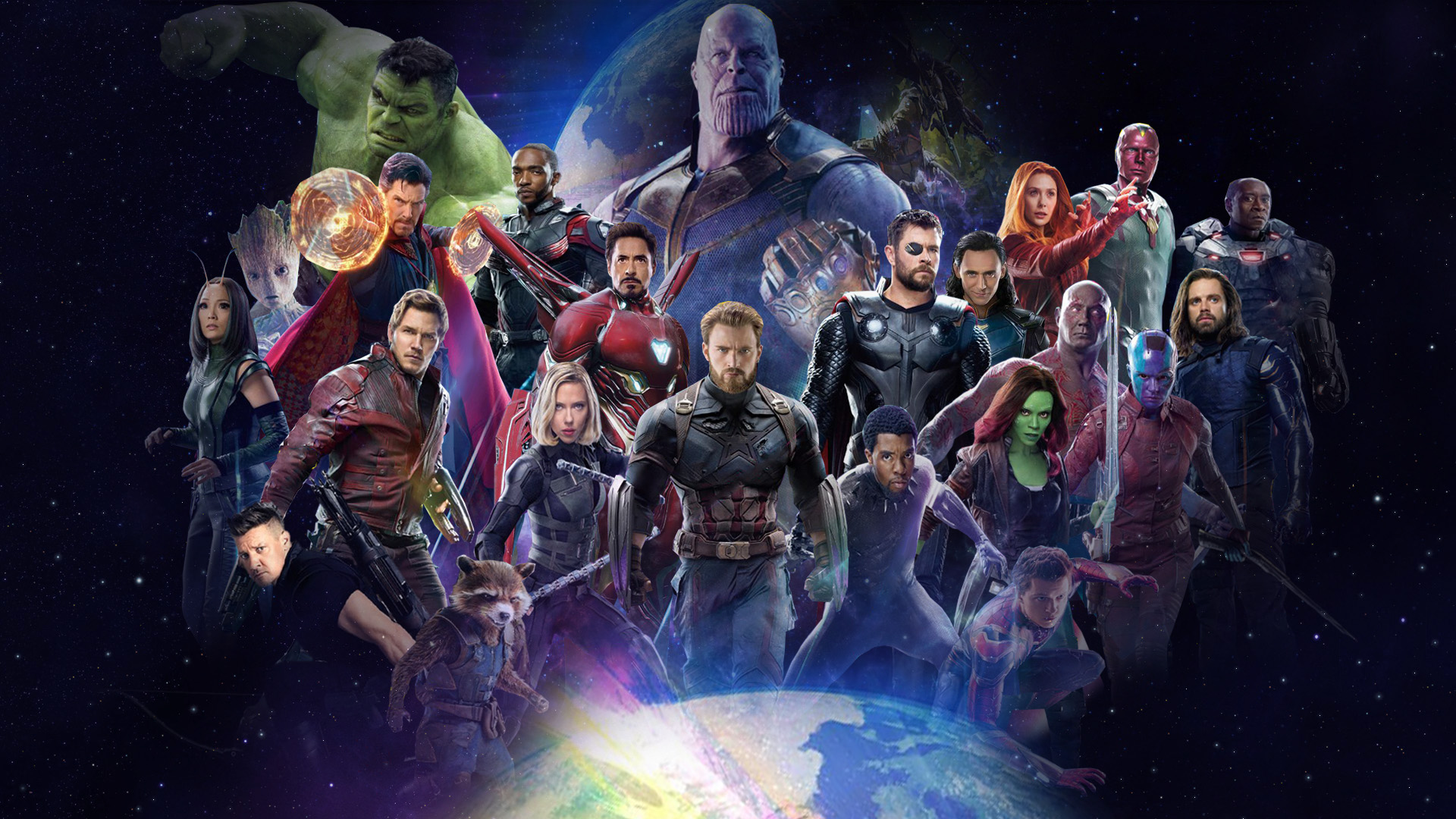 Avengers Infinity War  All Characters Poster