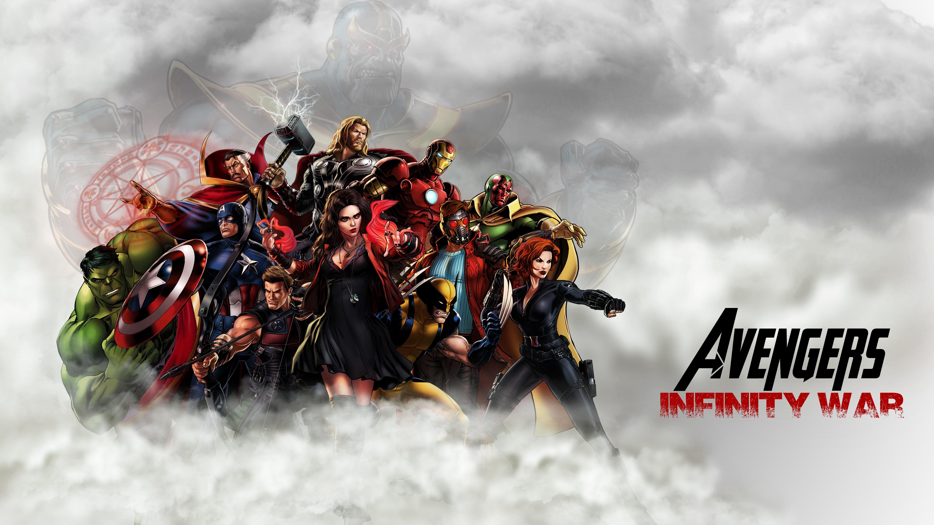 avengers infinity war 2018 artwork 4k hd movies 4k