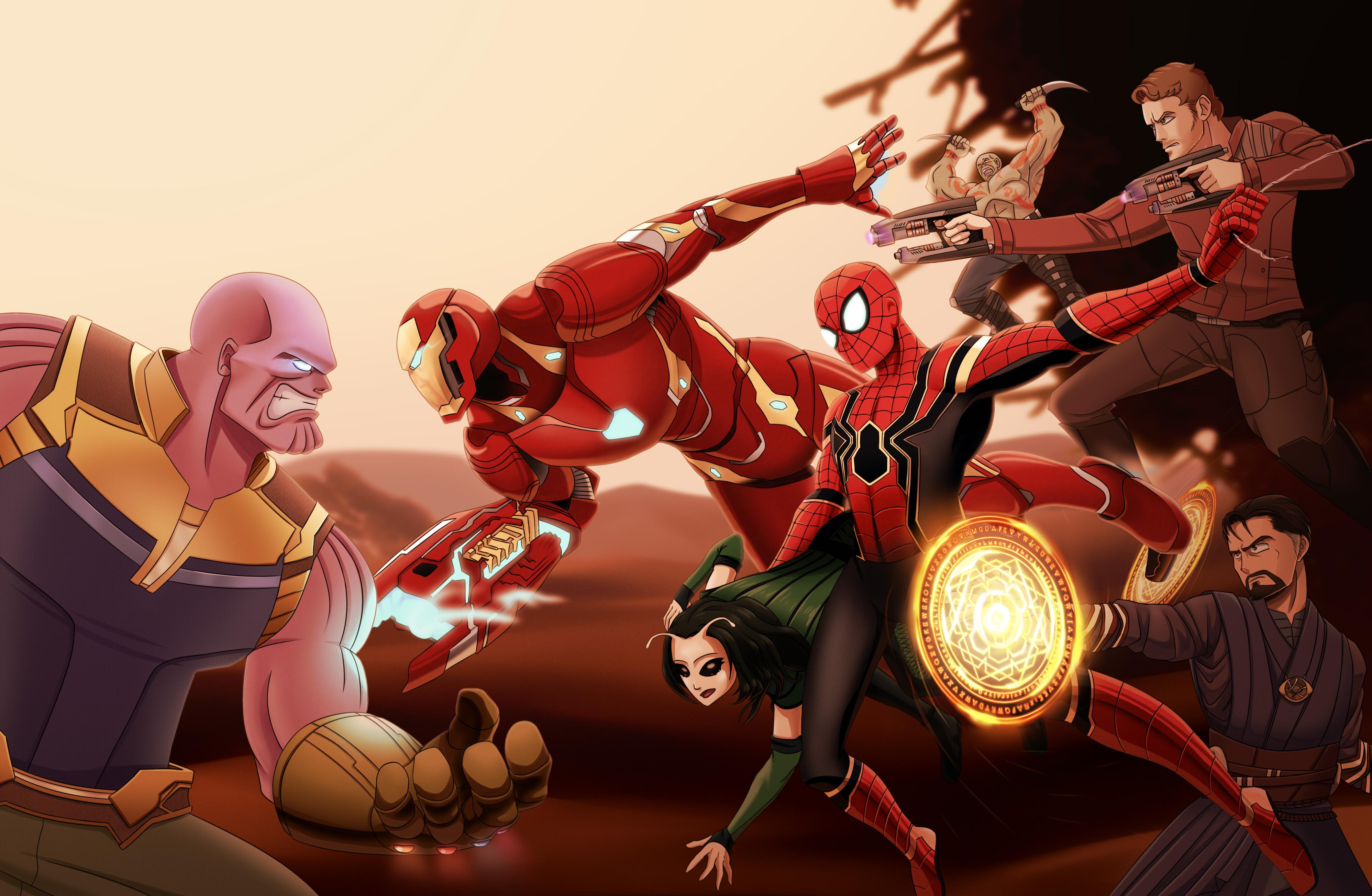 Wallpaper Thanos Avengers Infinity War Artwork Hd: Avengers Infinity War 4k Art, HD Superheroes, 4k