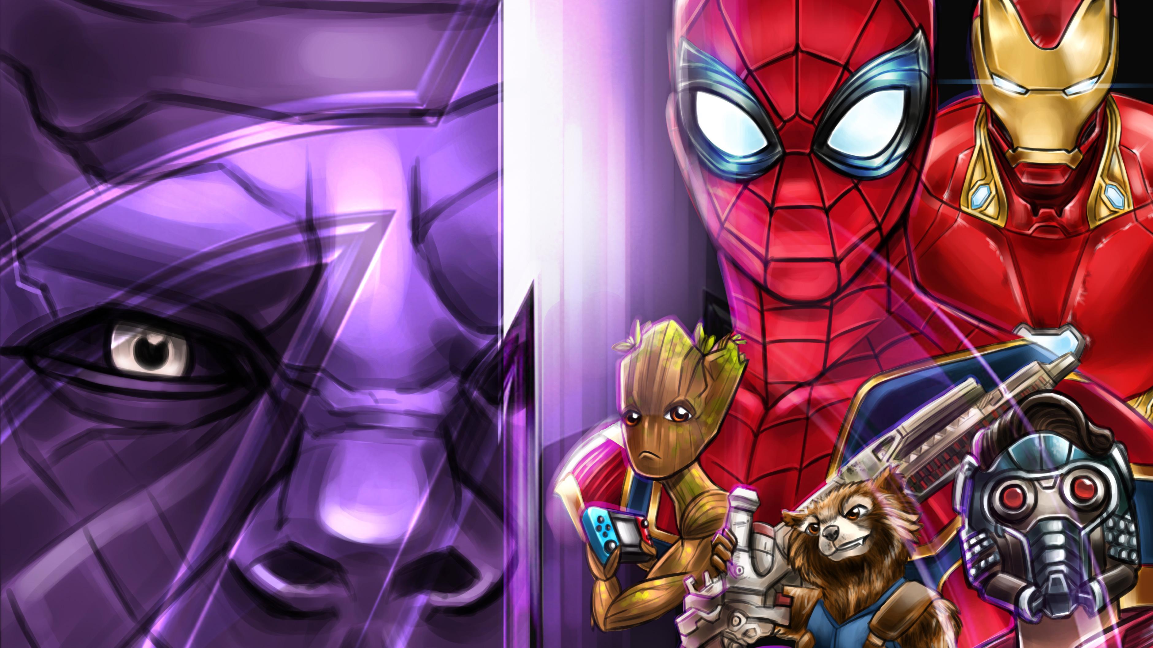 avengers infinity war 4k artwork fk