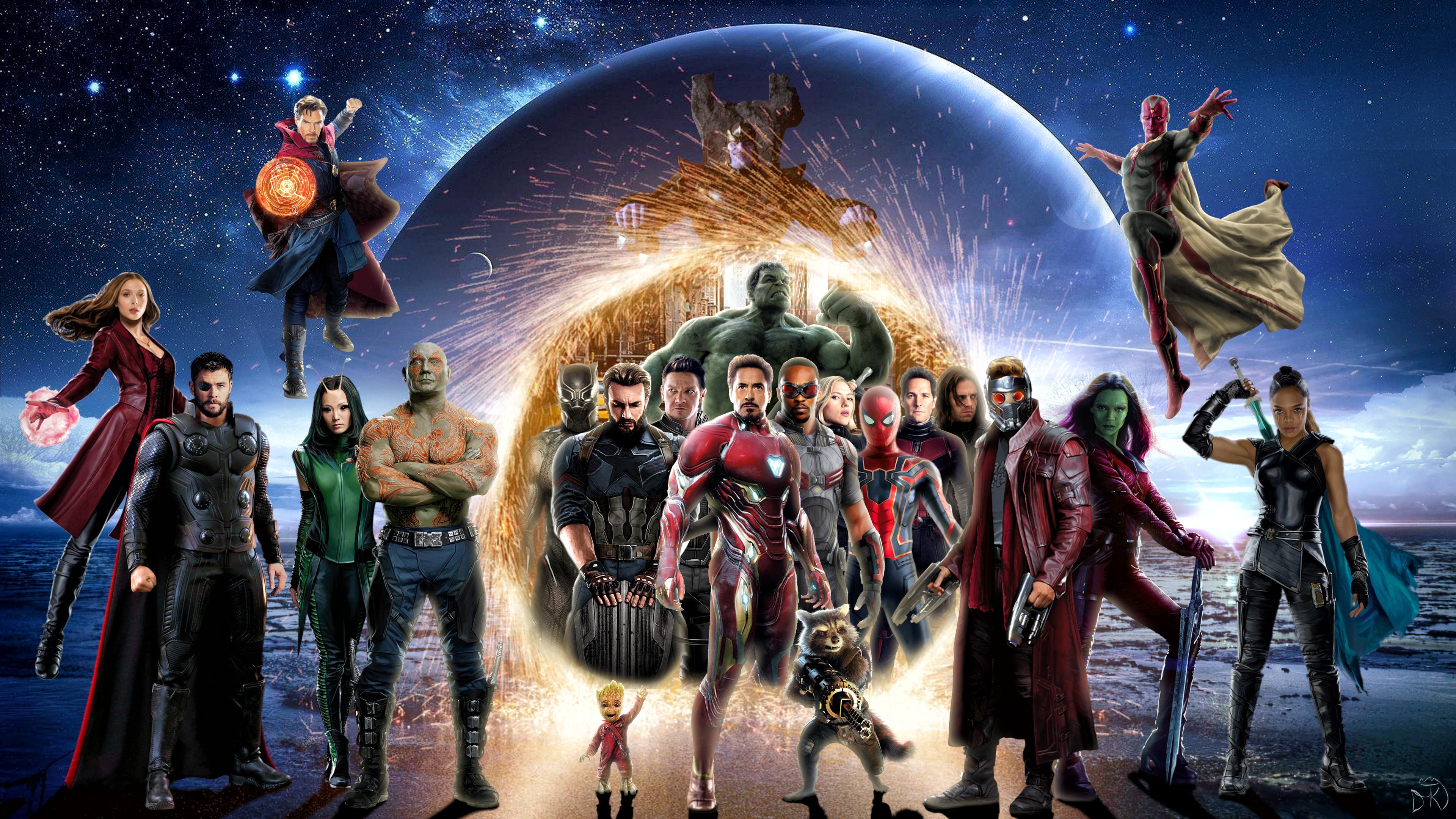 1920x1080 Avengers Infinity War 4k Poster Laptop Full HD