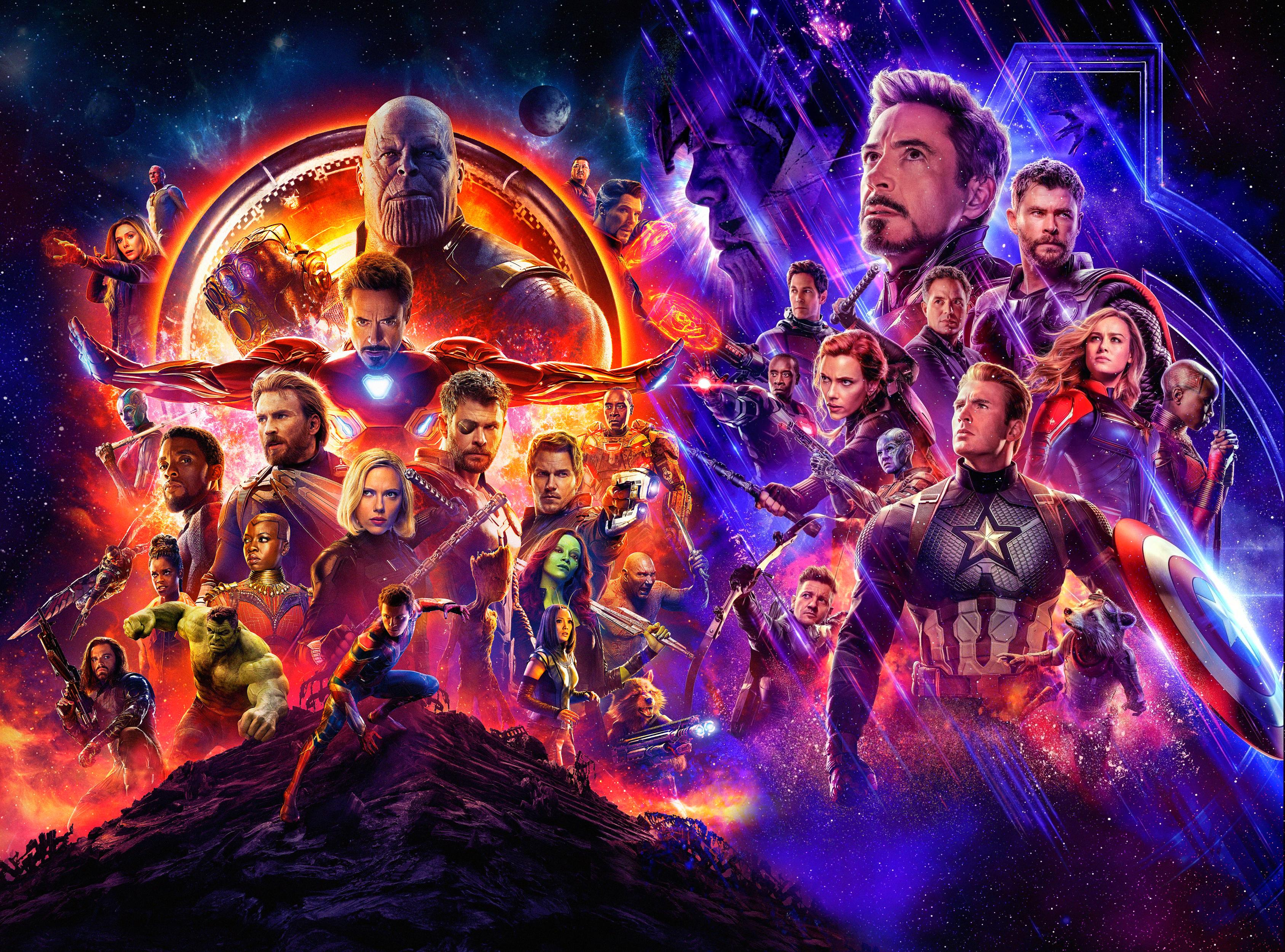 Movie Poster 2019: Avengers Infinity War And Endgame Poster, HD Superheroes