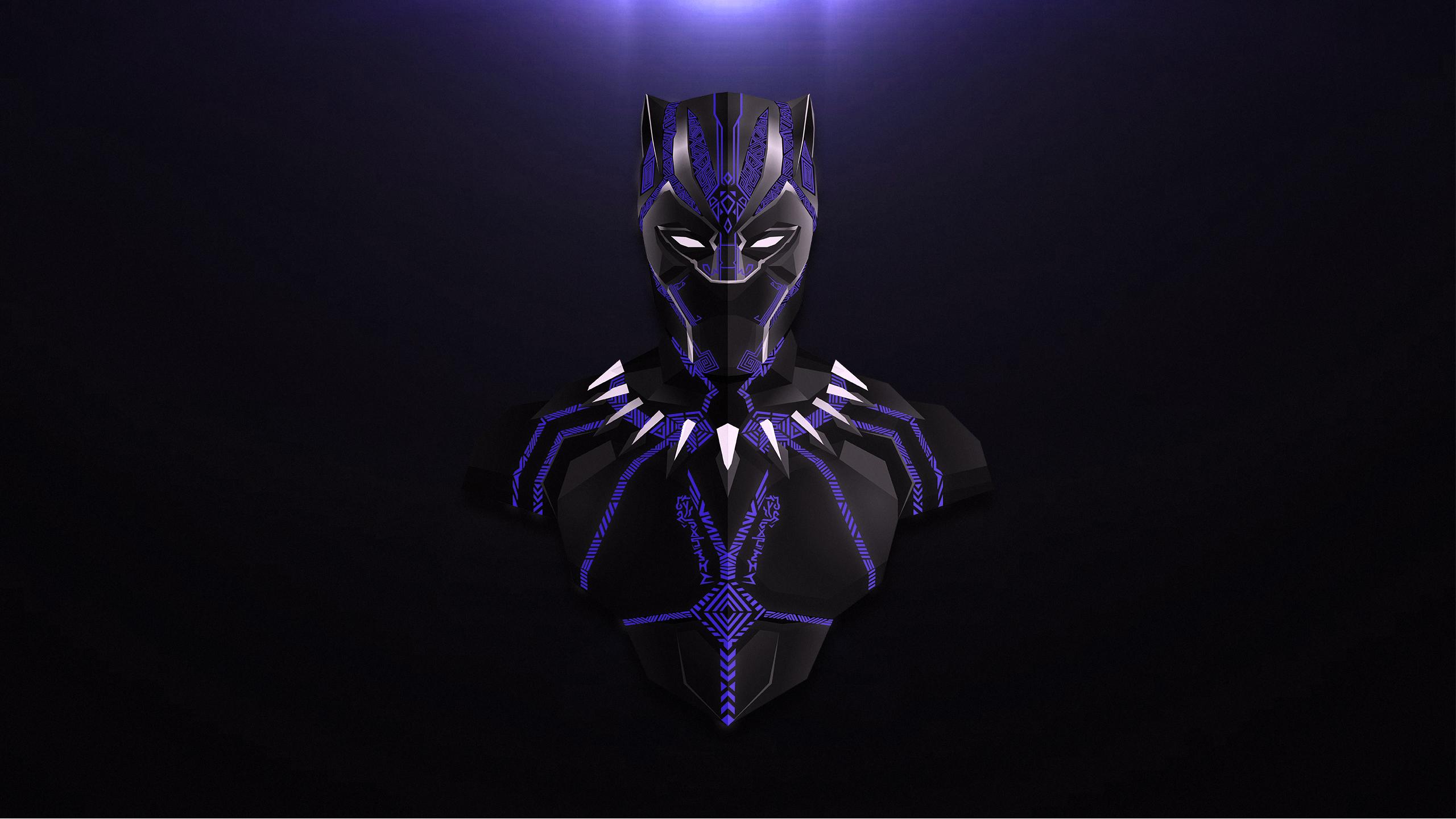 800x1280 Avengers Infinity War Black Panther Minimalism