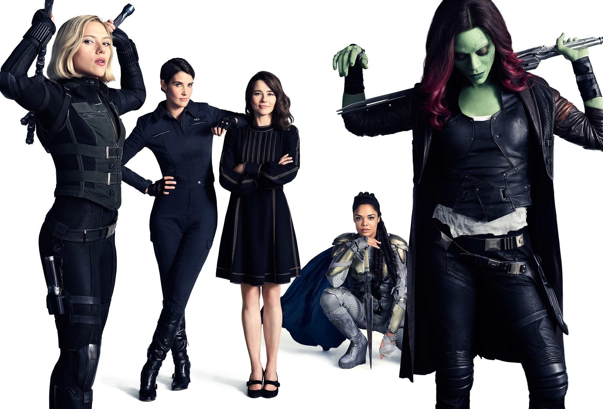 Avengers Infinity War Black Widow Gamora Valkyrie Hd